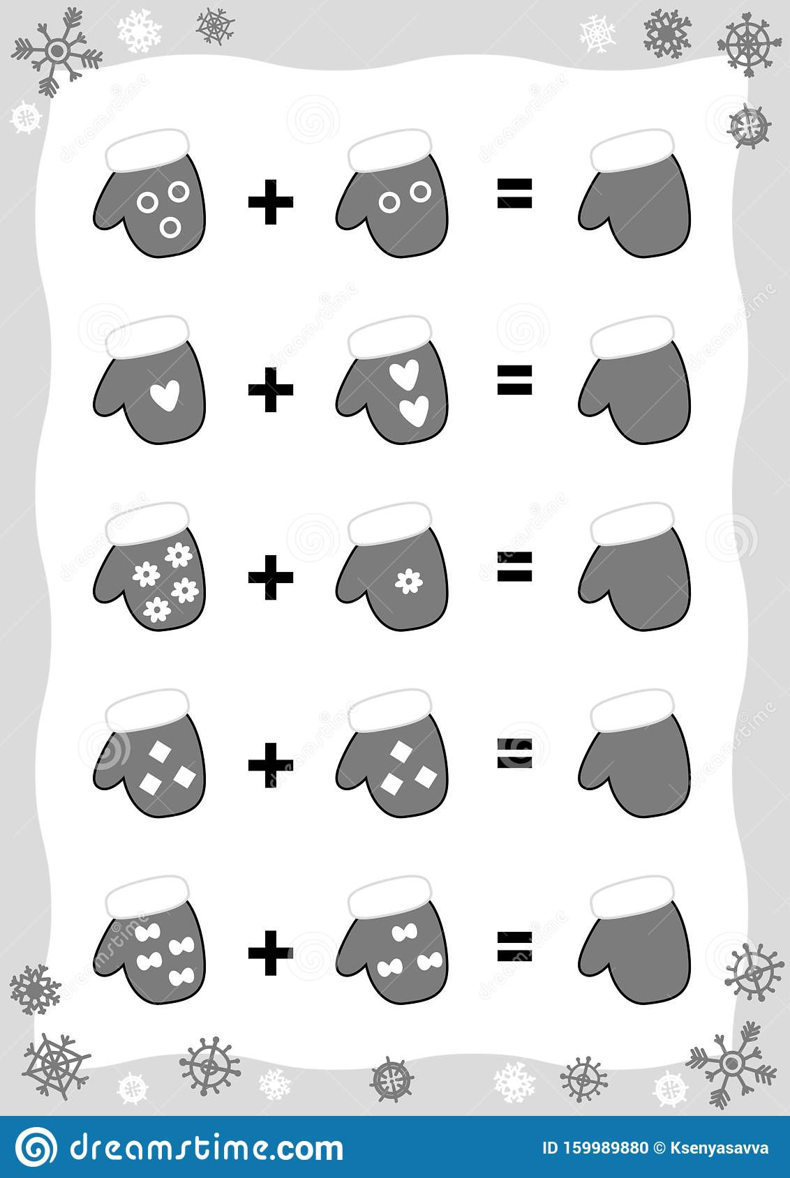 Christmas Worksheets for Preschool Counting Game for Preschool Children Educational A