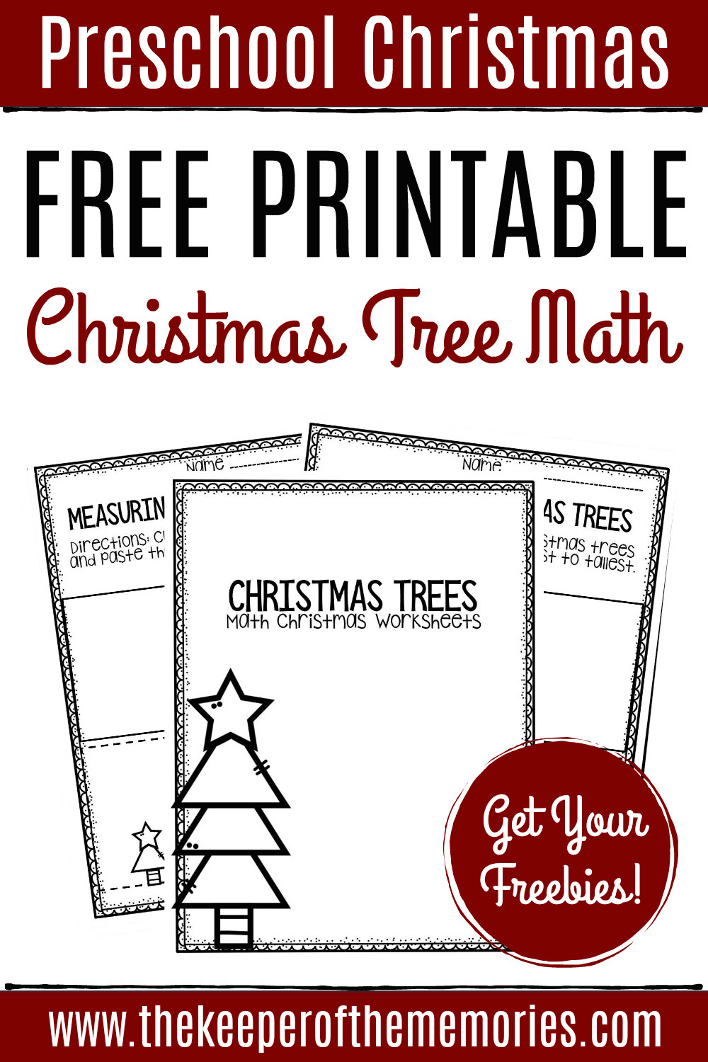 Christmas Worksheets for Preschool Free Printable Measuring Christmas Trees Math Christmas