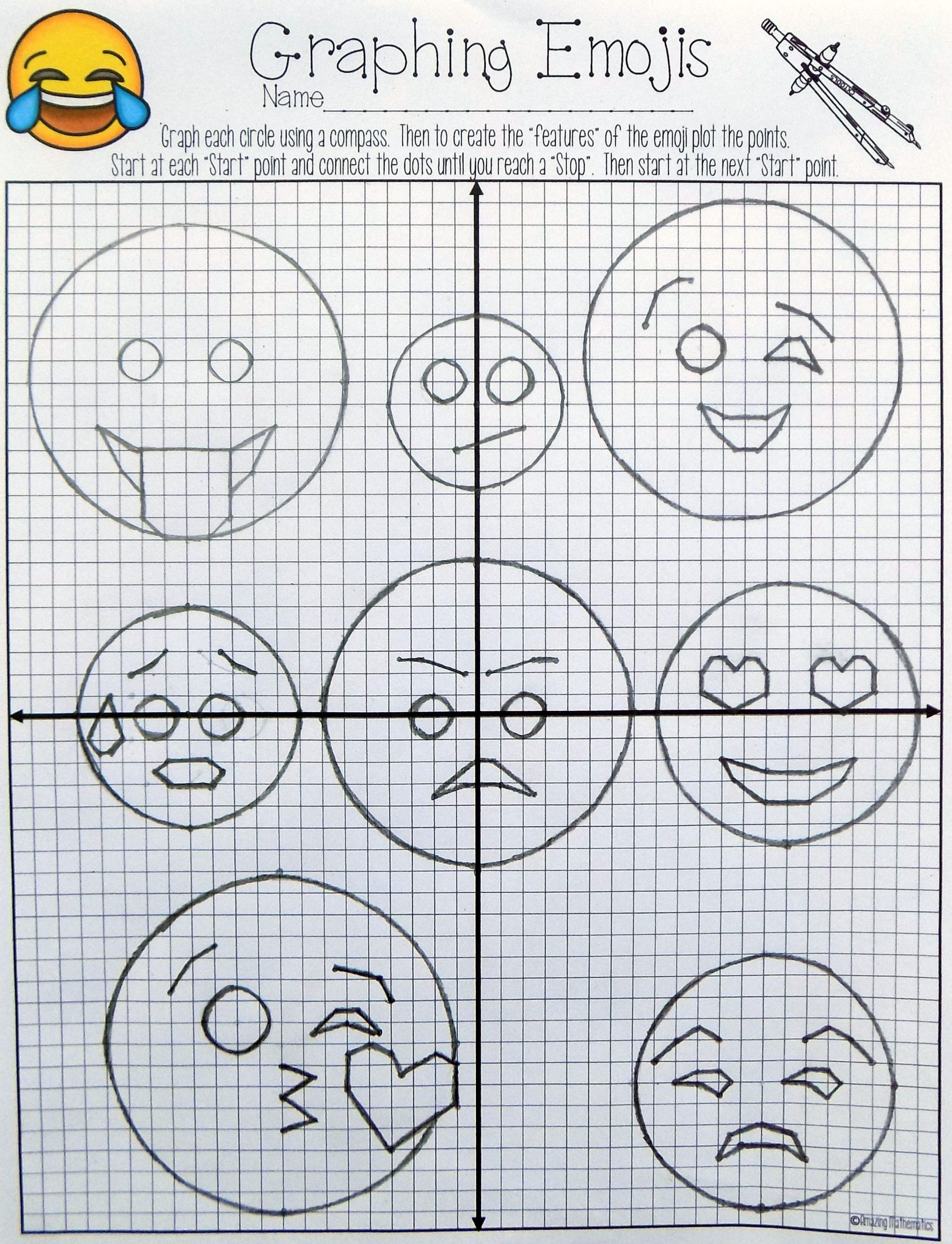 Circle Graphs Worksheets 7th Grade Equations Of Circles Activity
