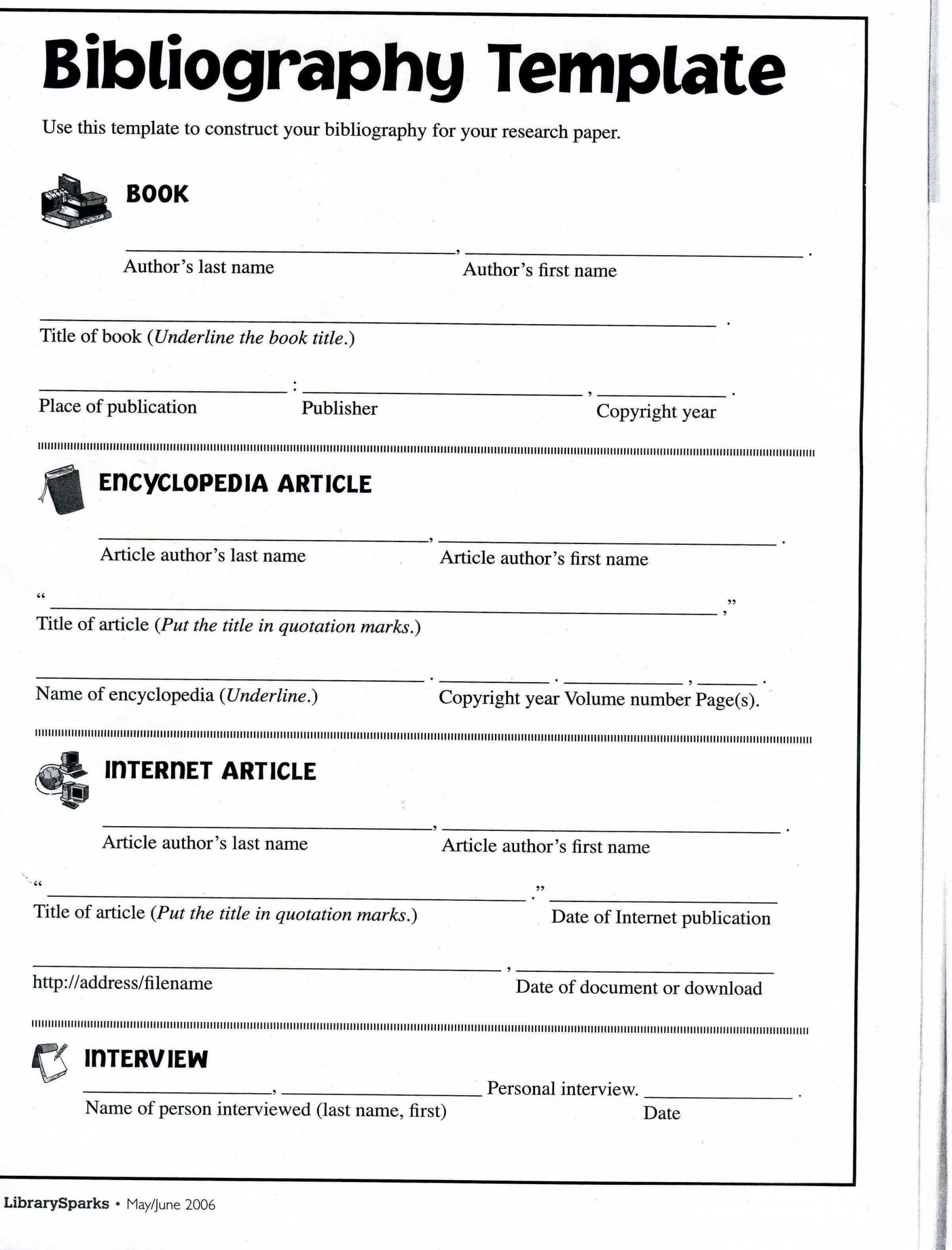 Citing sources Worksheet 5th Grade Image Result for Bibliography for 5th Grade