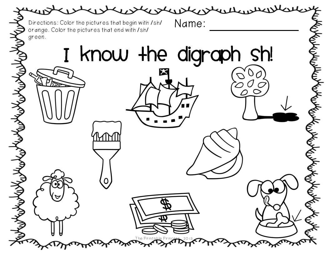 Ck Worksheets for 1st Grade Digraphs Activities Centers and Practice Pages