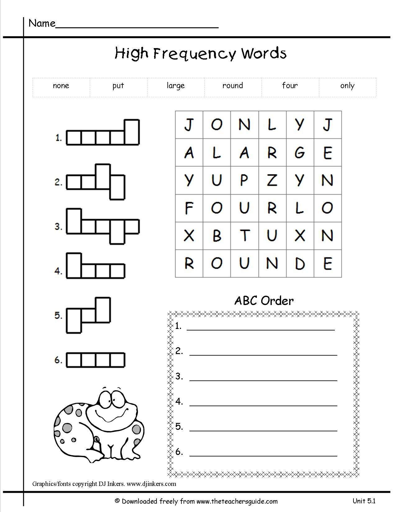 Ck Worksheets for 1st Grade Free Phonics Worksheet for First Grade