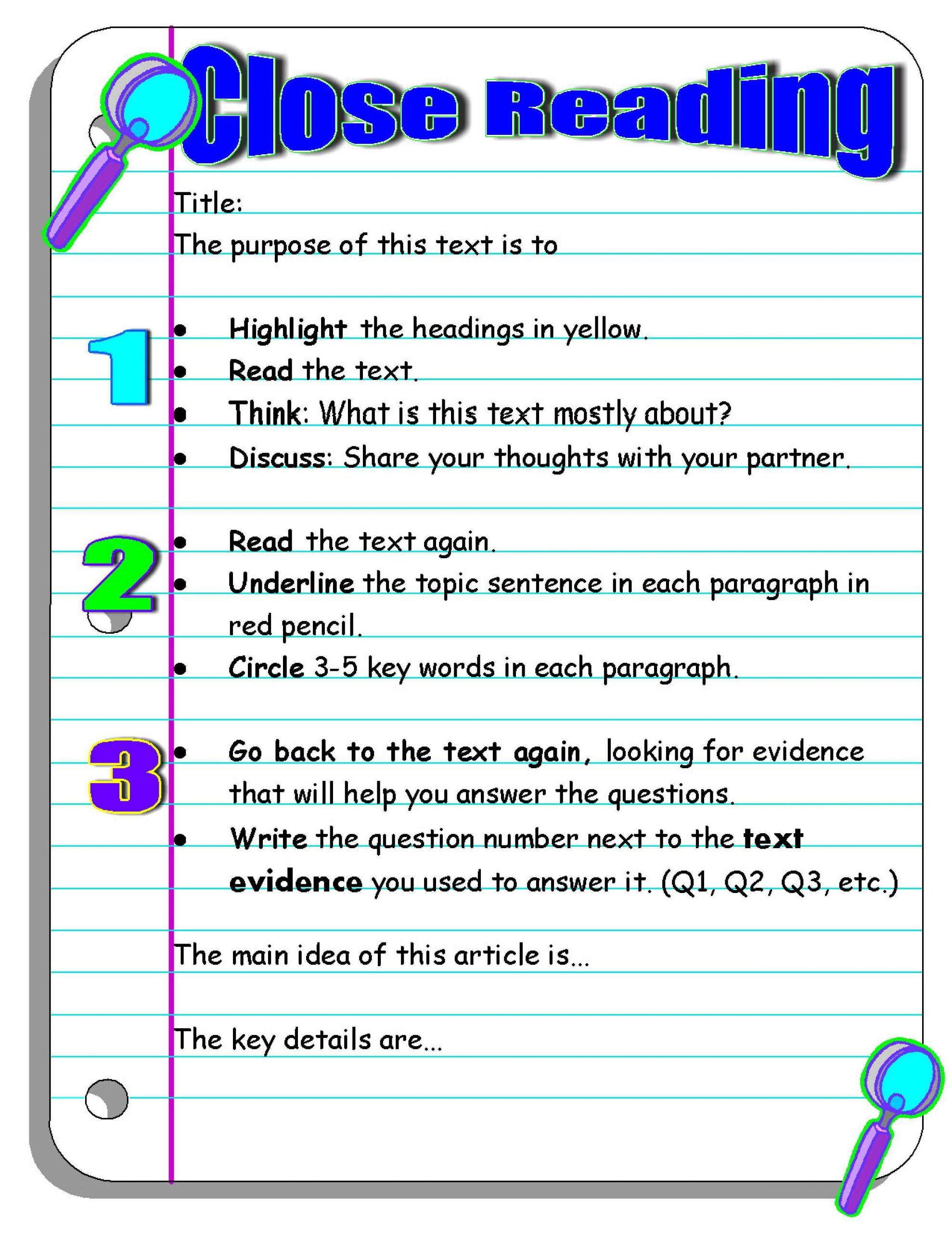 Close Reading Activities Worksheets Investigating Nonfiction Part 2 Digging Deeper with Close