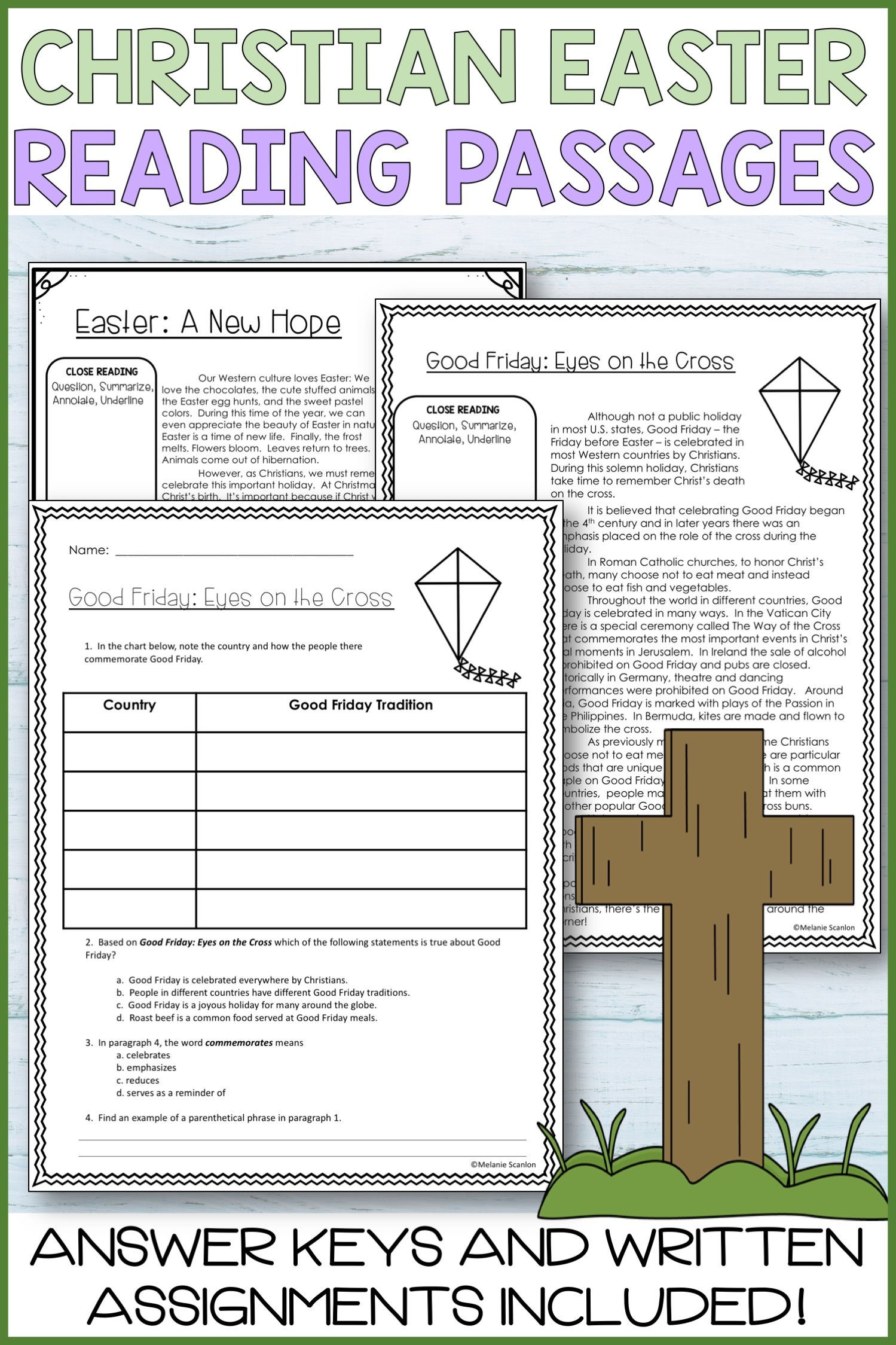 These printable worksheets and close reading activities are