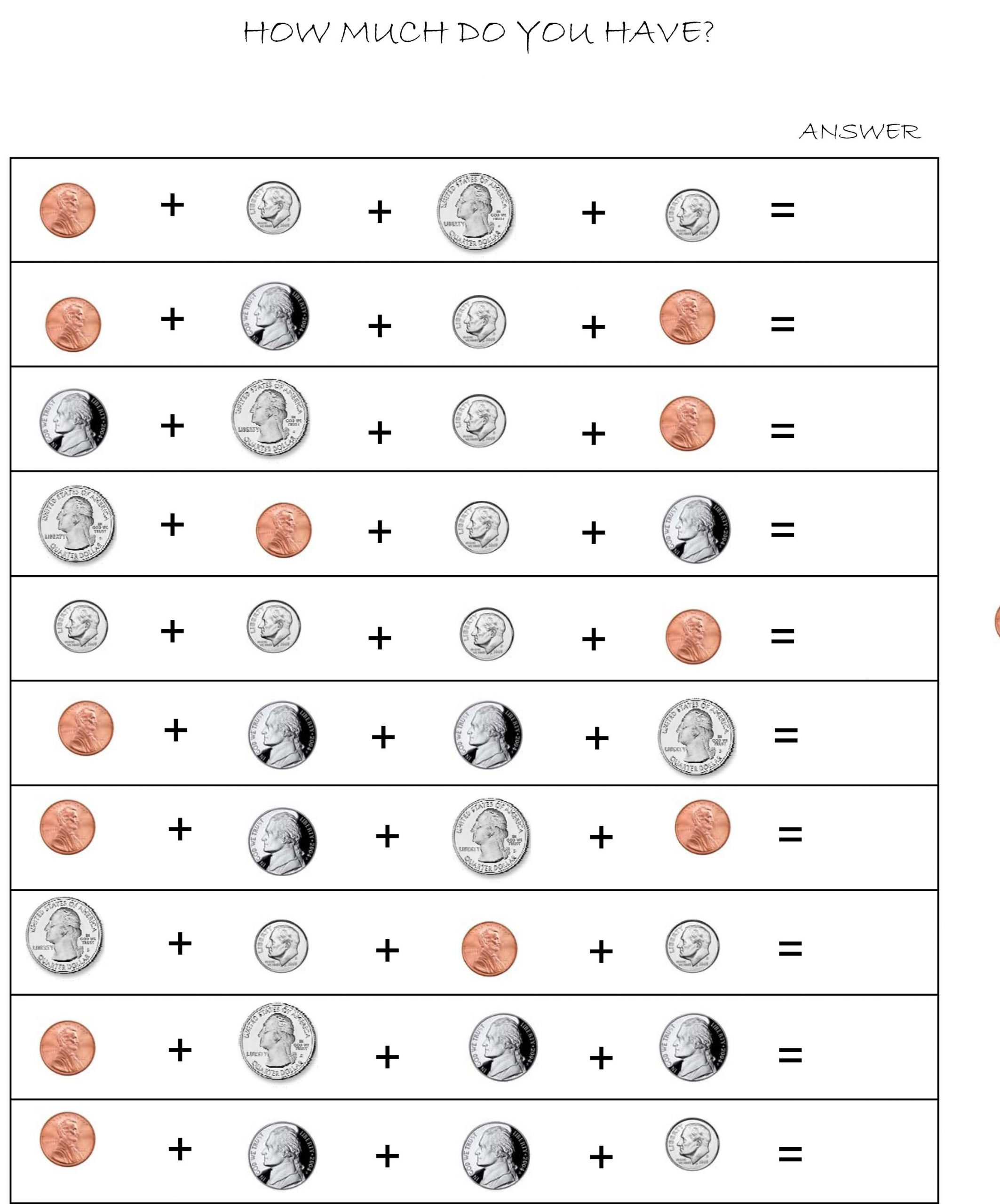 Coin Worksheets First Grade First Grade Identifying Coins and their Values Lessons