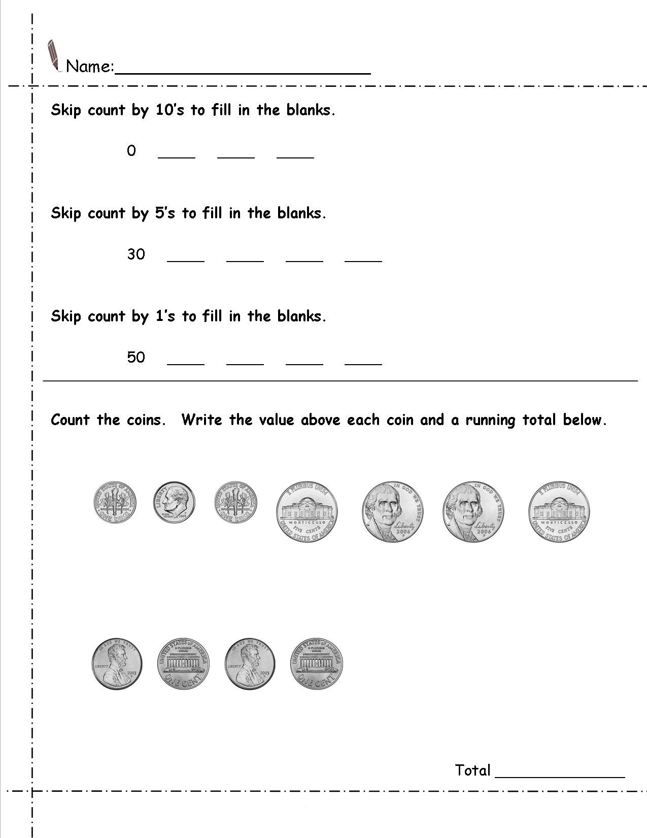 Coin Worksheets for 2nd Grade 2nd Grade Money Worksheets Best Coloring Pages for Kids