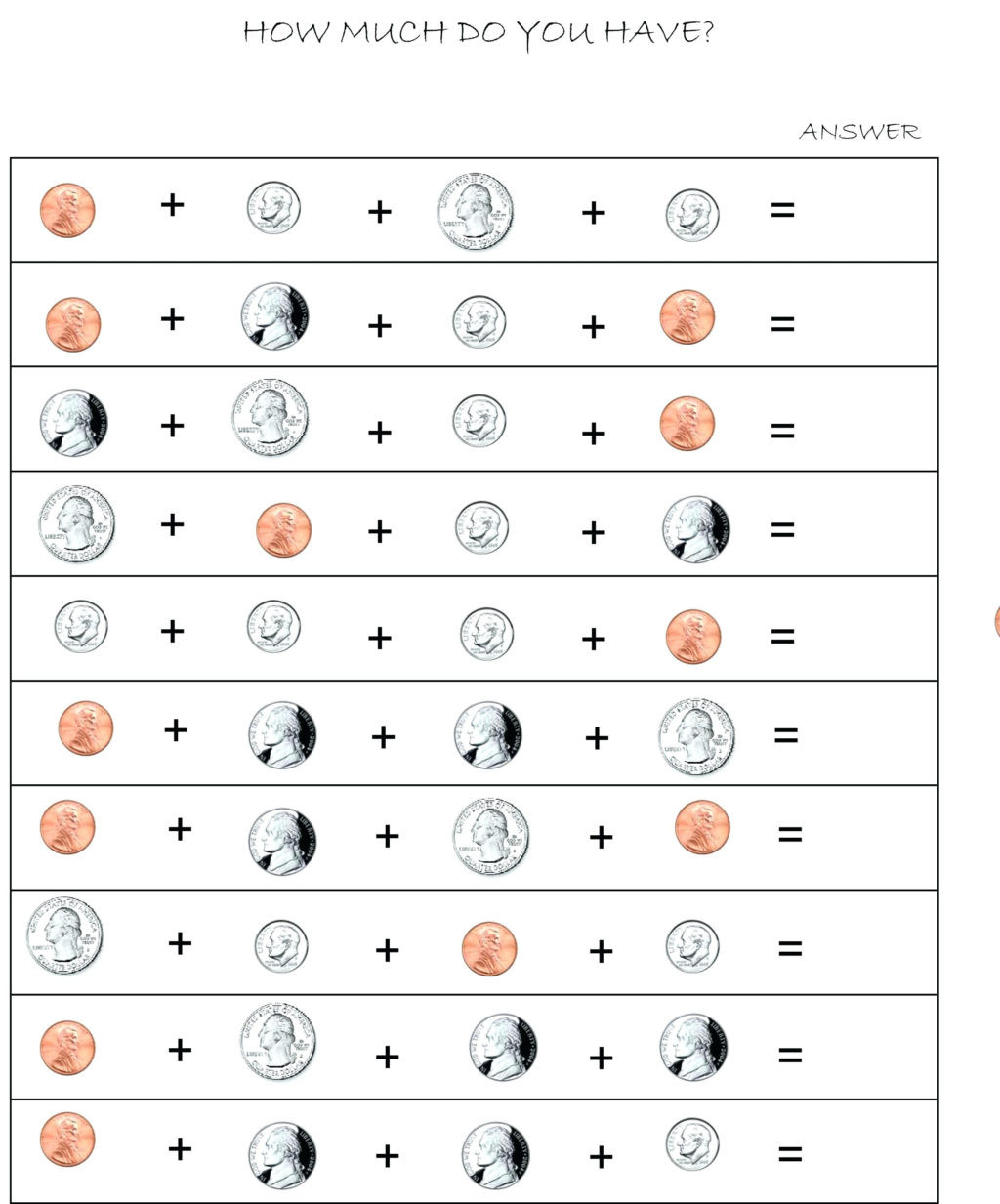 Coin Worksheets for 2nd Grade Worksheet Marvelous 2nd Grade Money Worksheets Counting to