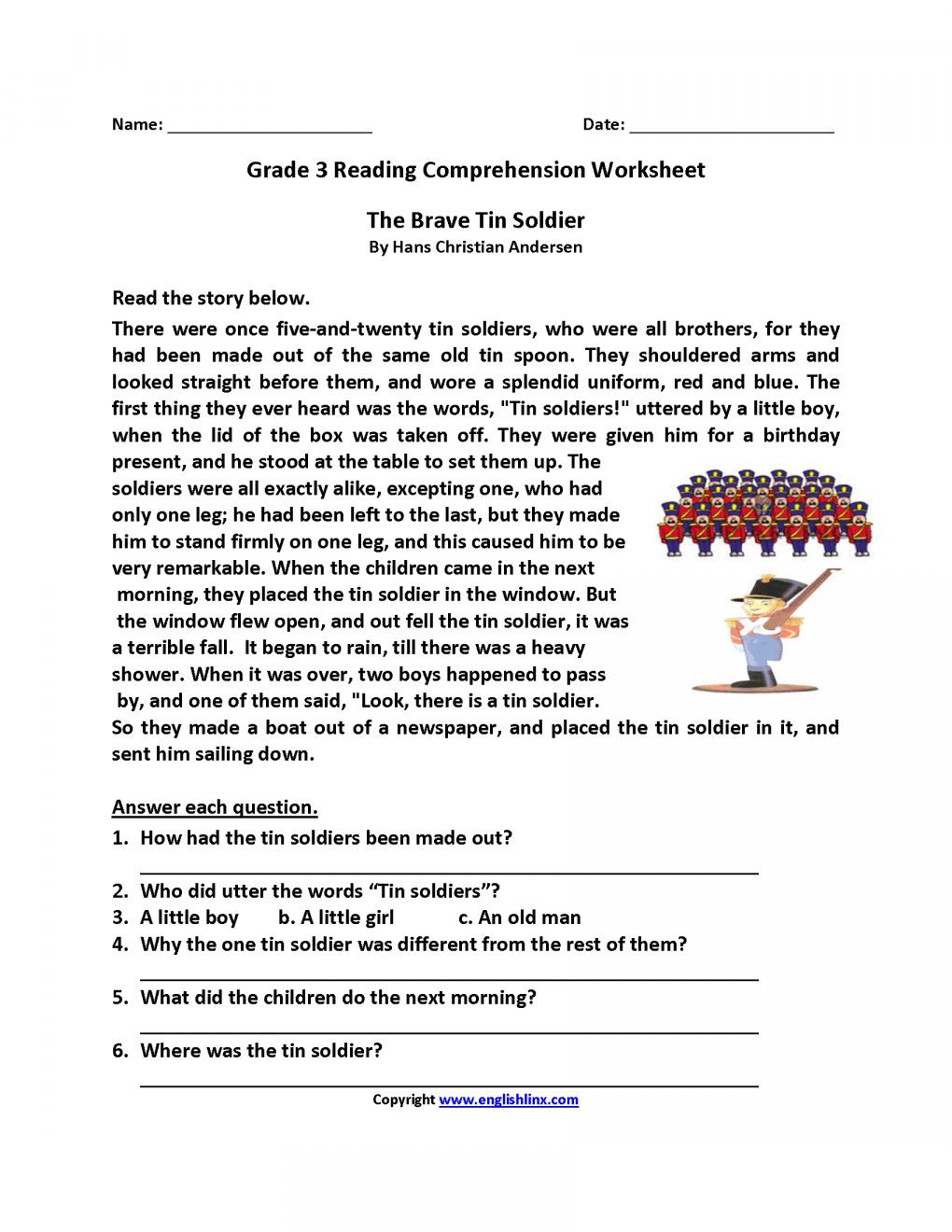 Cold War Reading Comprehension Worksheet 7 3rd Grade Reading Prehension Worksheets with Questions