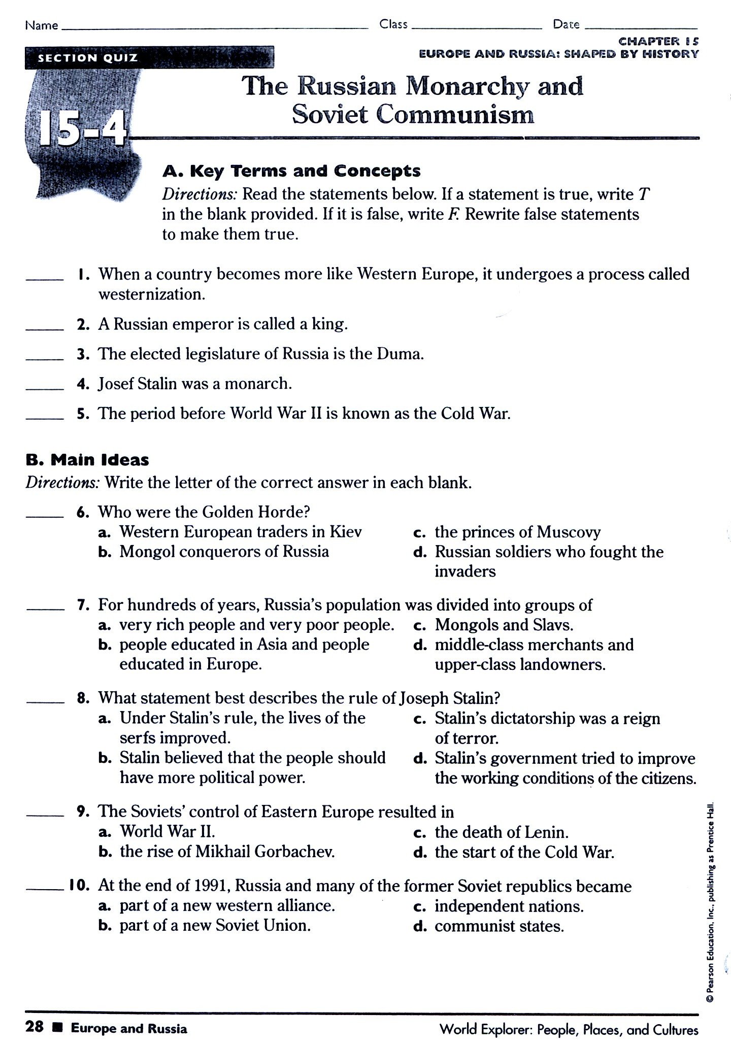 Cold War Reading Comprehension Worksheet Chapter 8 Section 3 Languages Fuel Nationalism Worksheet