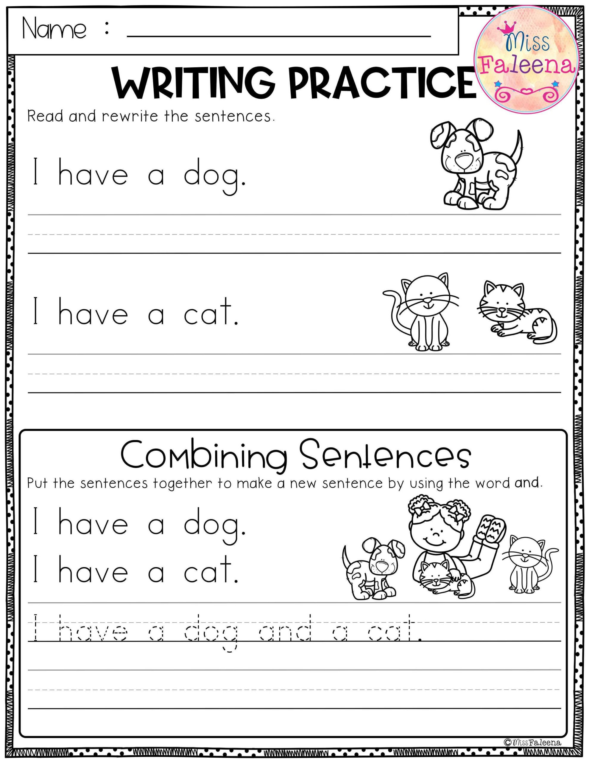Combining Sentences Worksheets 5th Grade Free Writing Practice Bining Sentences Sentence
