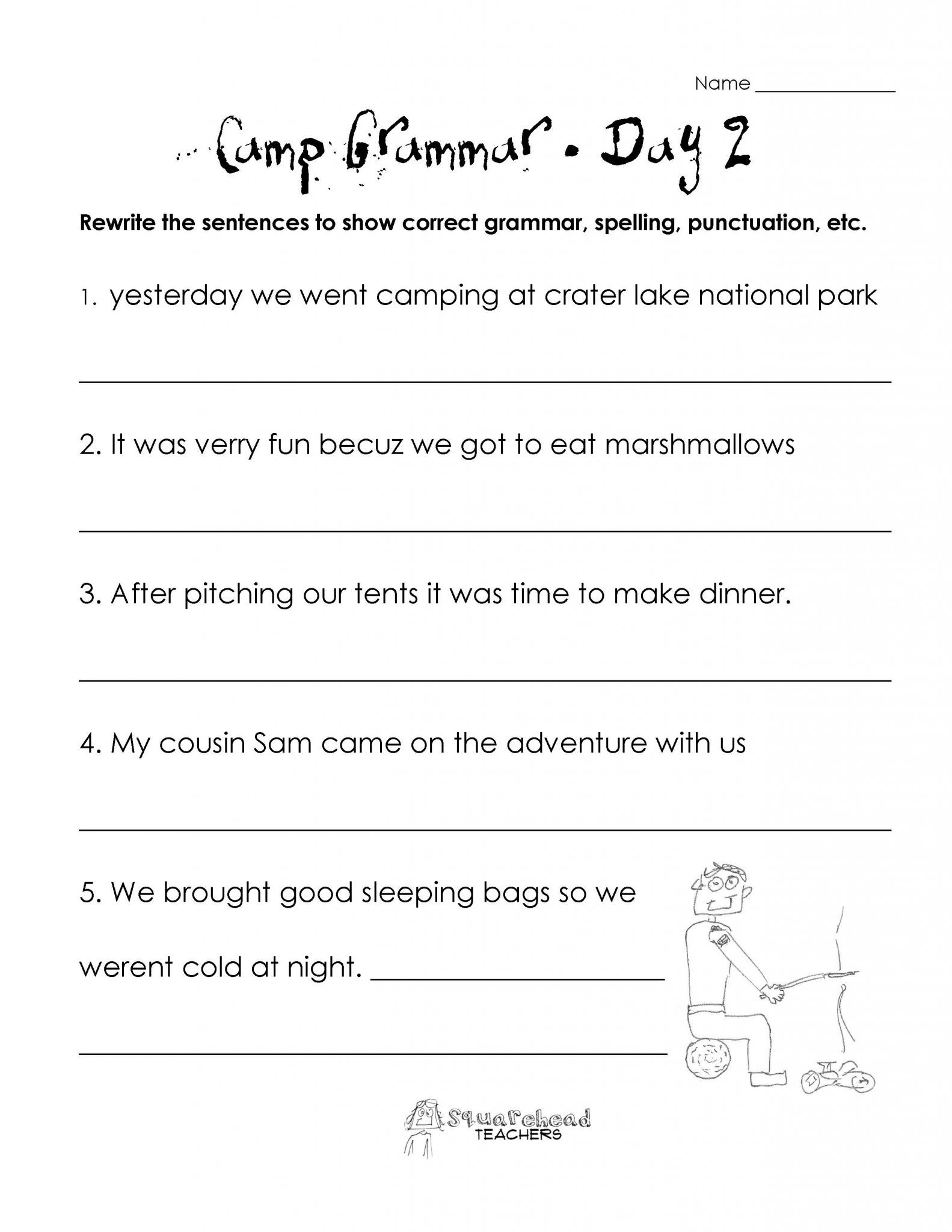 Comma Worksheets 2nd Grade 2nd Grammar Worksheets