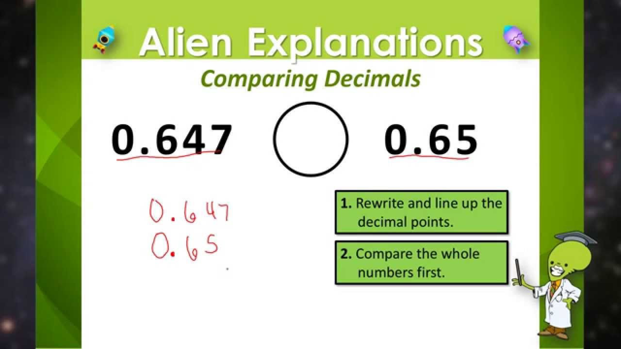 Comparing Decimals Worksheet 5th Grade Paring Decimals 5th Grade Education Galaxy