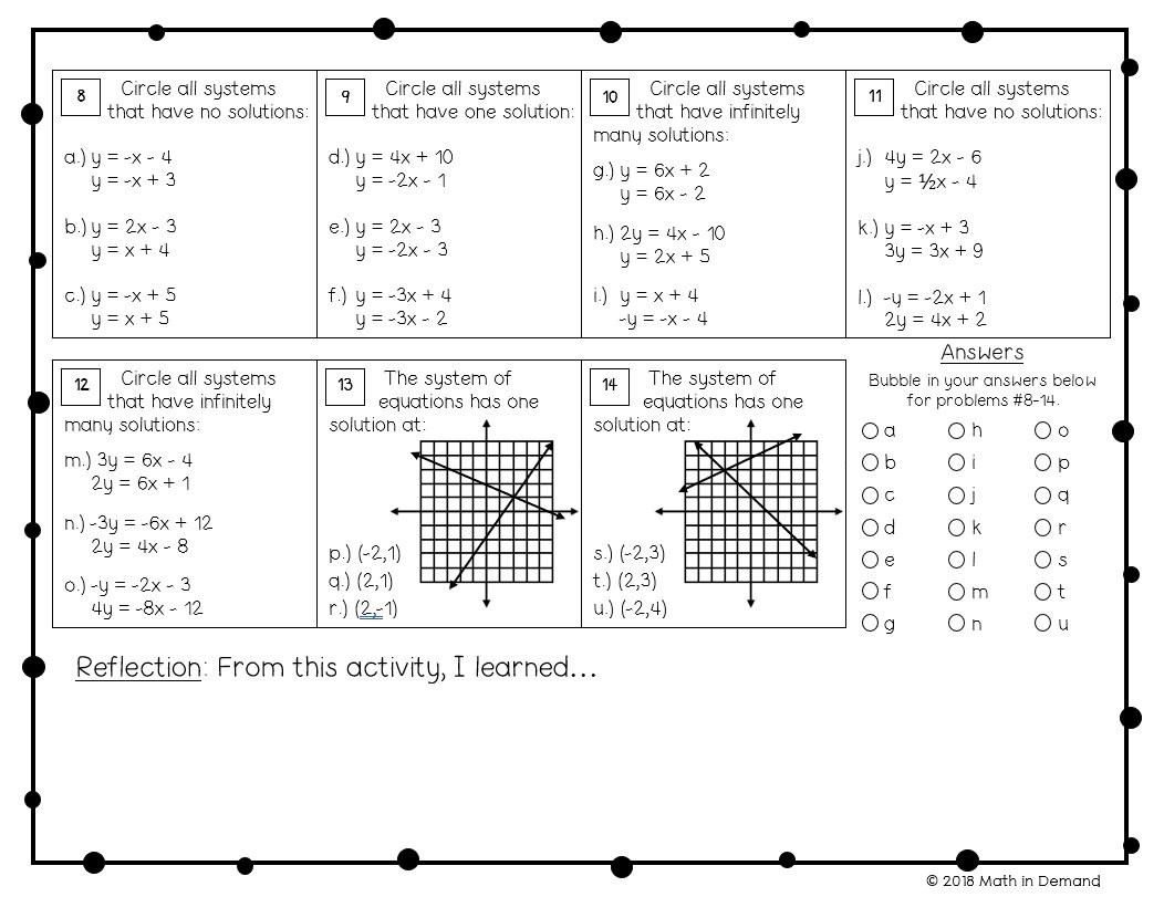 Comparing Functions Worksheet 8th Grade 8th Grade Math Worksheets Math In Demand