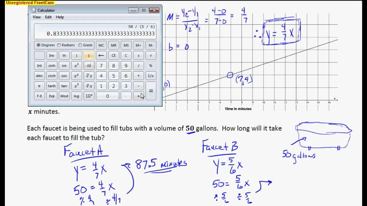 Comparing Functions Worksheet 8th Grade Paring Linear Functions and Graphs Examples solutions
