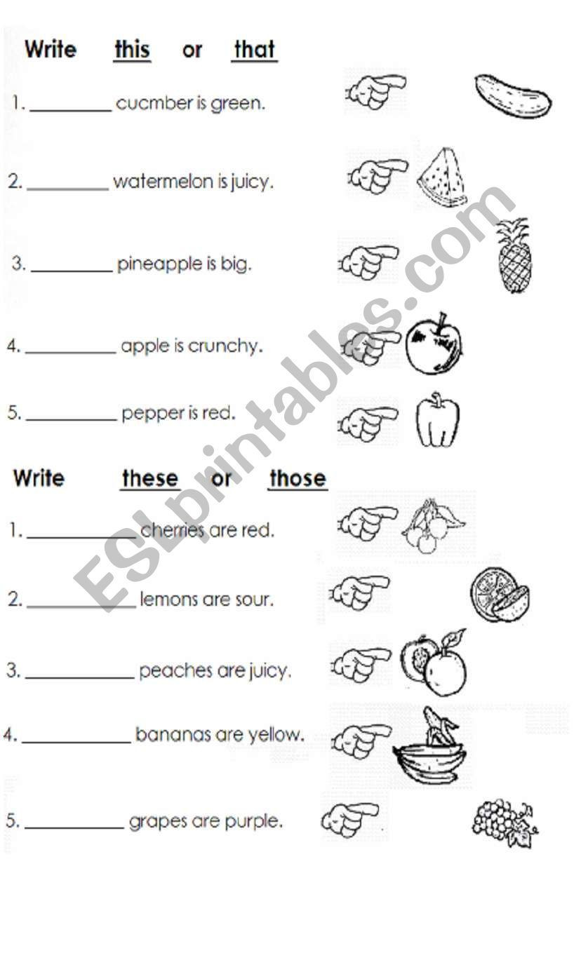 Complete Sentences Worksheets 1st Grade Children Practice and Plete Sentences with This that