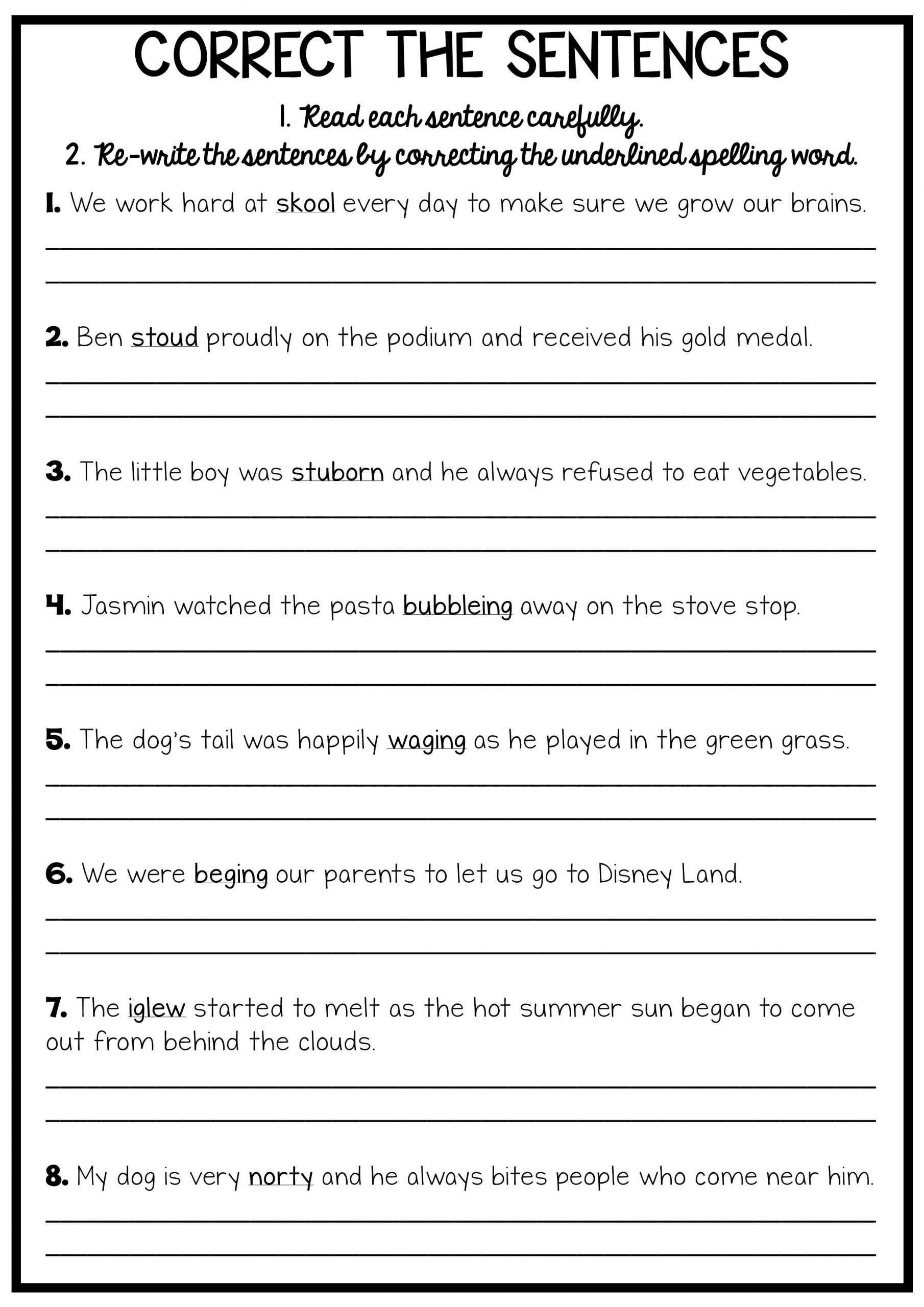 Complete Sentences Worksheets 1st Grade Reading and Grammar Pack No Prep Printables
