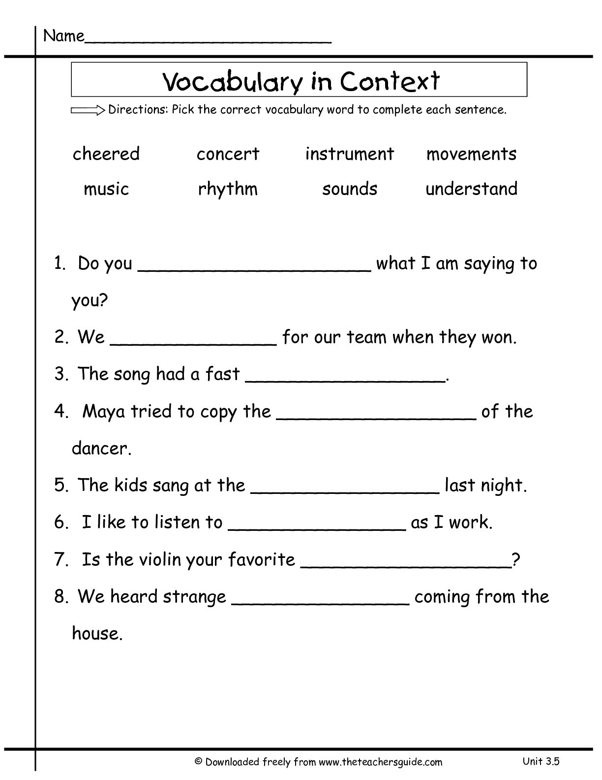 Complete Sentences Worksheets 2nd Grade Wonders Second Grade Unit Three Week Five Printouts