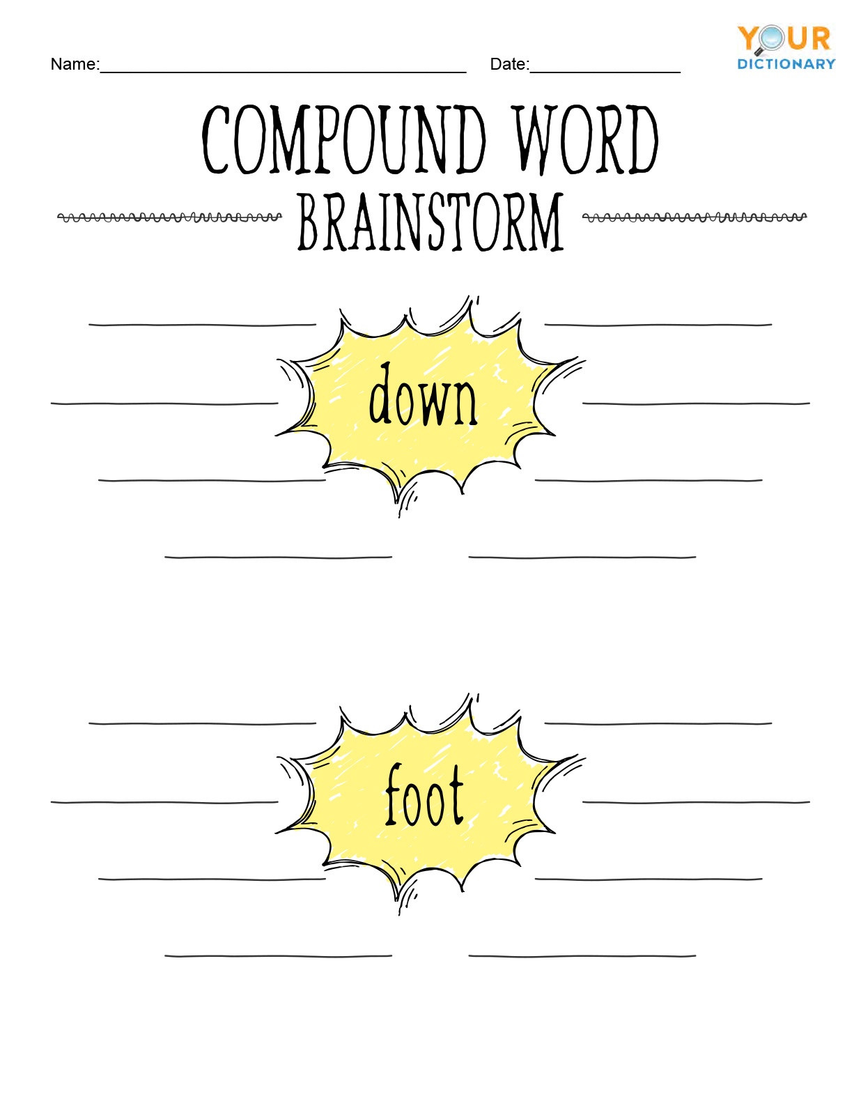 Compound Words Worksheets 1st Grade Fun Exercises for Pound Words