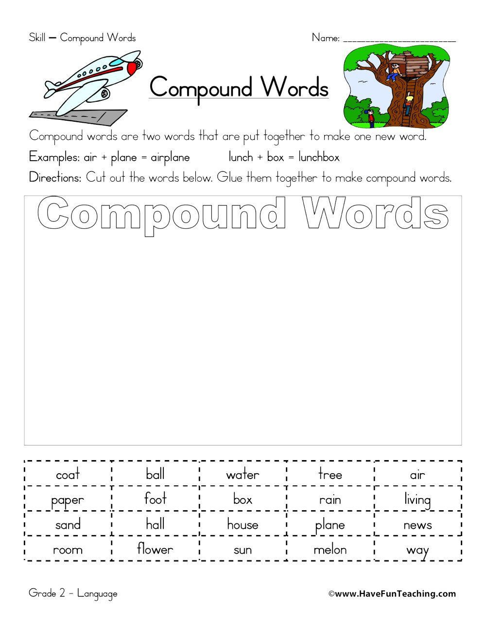 Compound Words Worksheets 1st Grade Pin On Grade Worksheets & Sample Printables