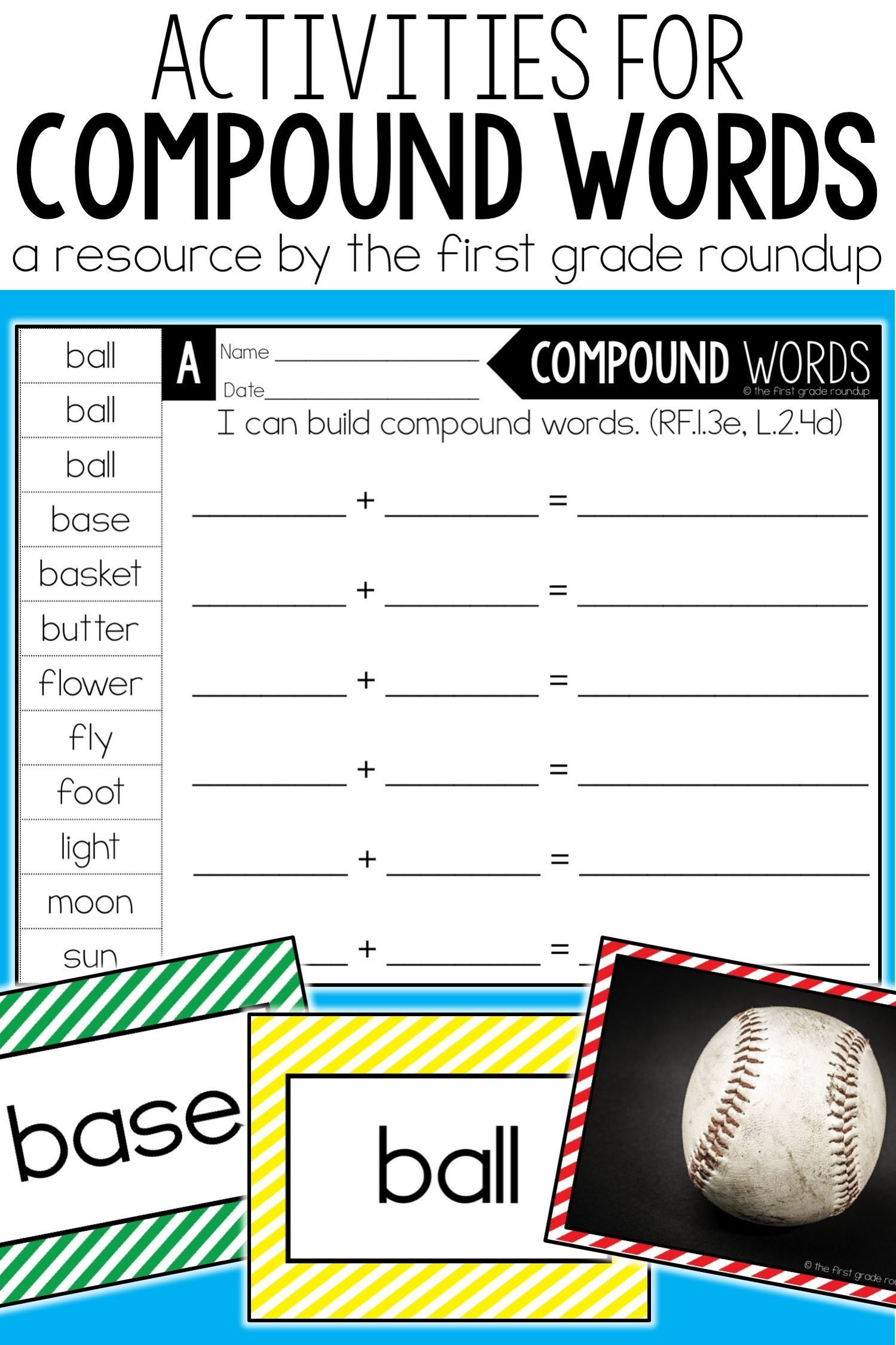 Compound Words Worksheets 1st Grade Pound Words Activity