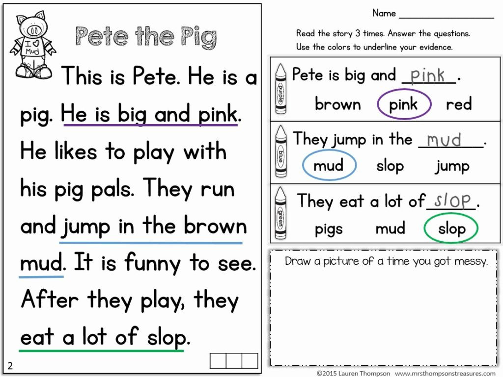 Comprehension Worksheets for First Grade 57 Tremendous 1st Grade Reading Prehension Activities