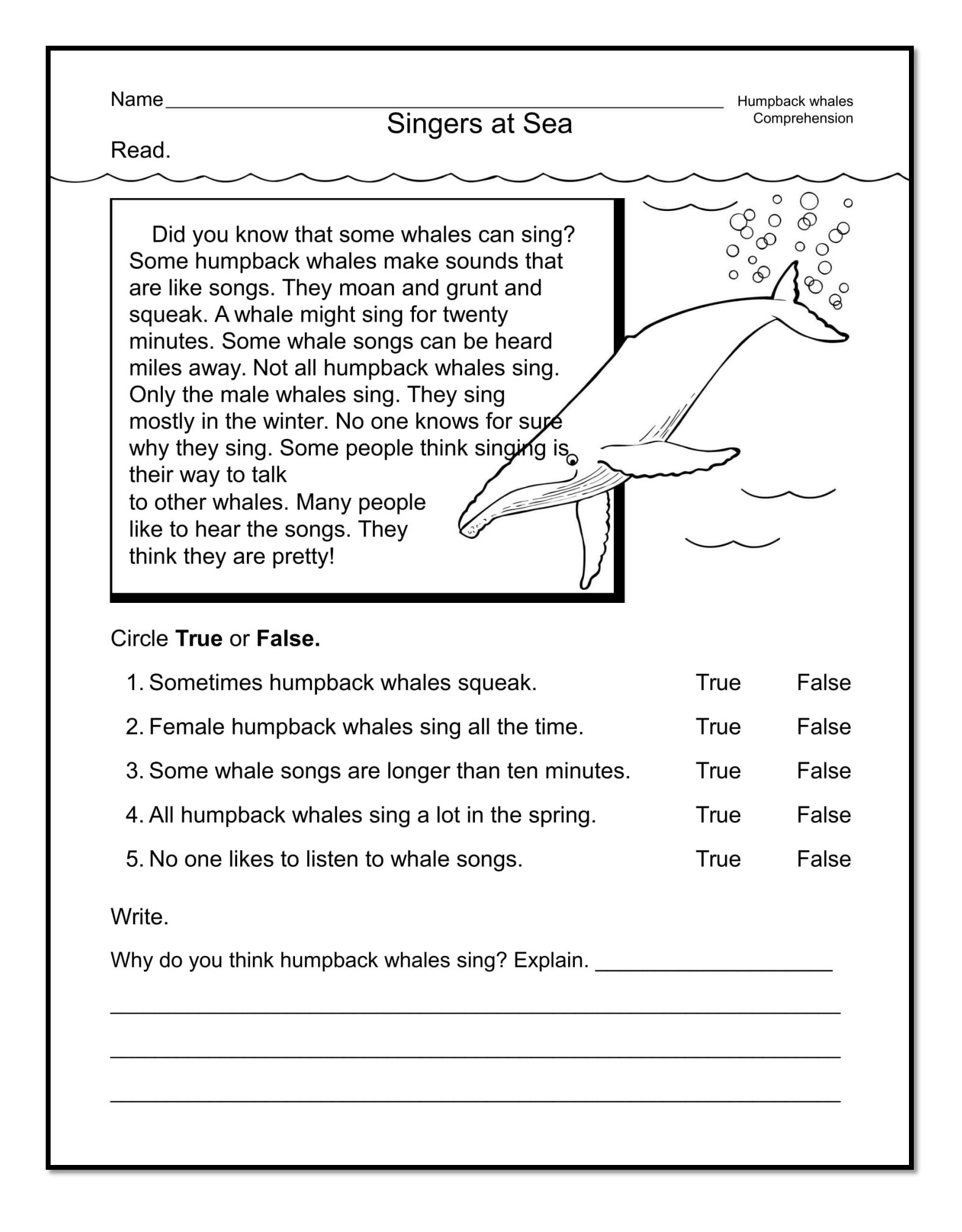 Comprehension Worksheets for First Grade Good Examples 1st Grade Worksheets Free Download
