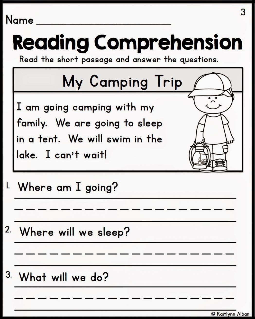 Comprehension Worksheets for First Grade Reading Prehension Worksheets for First Grade Students 1