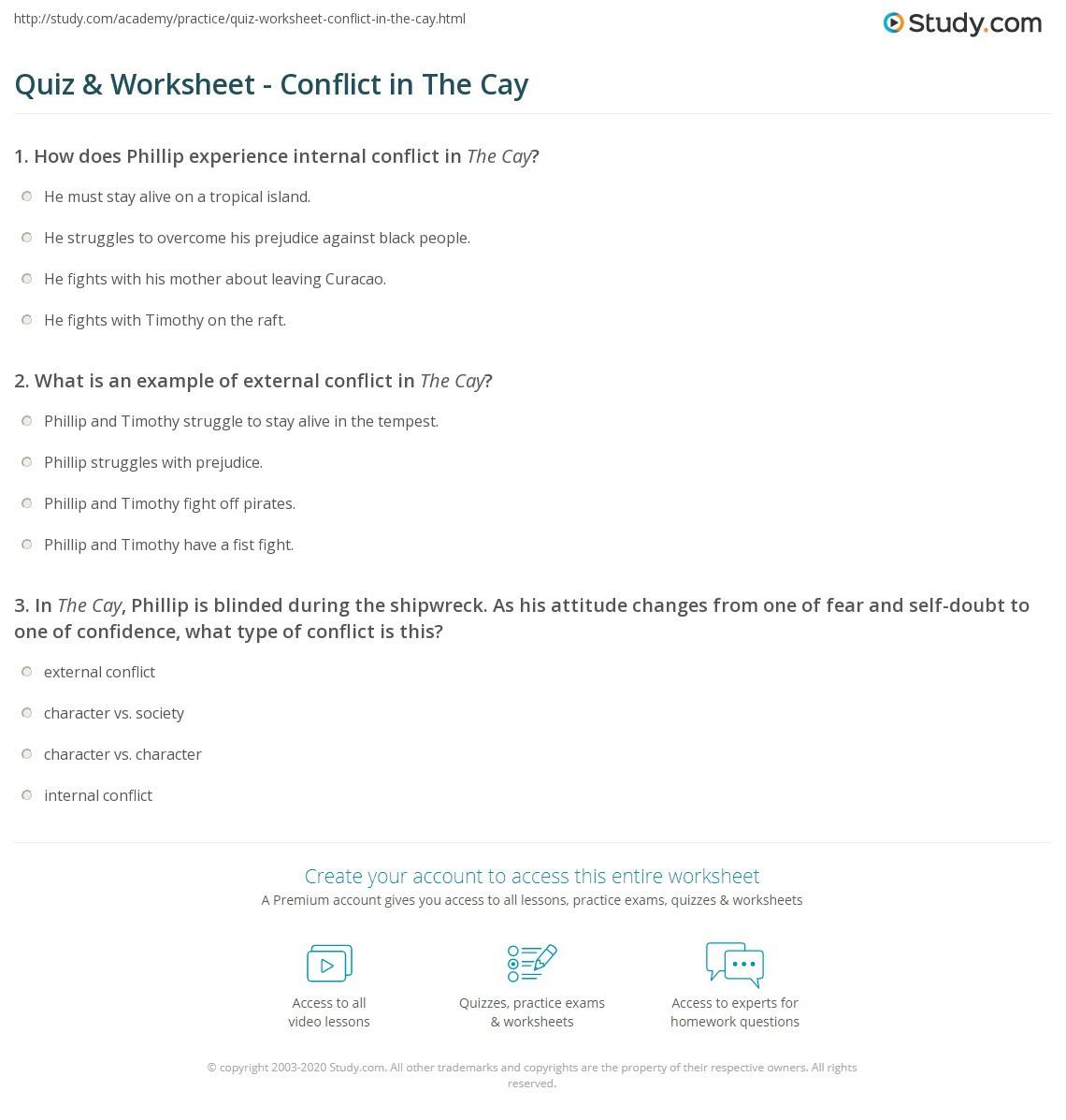 Conflict Worksheets for Middle School Internal External Conflict Worksheet