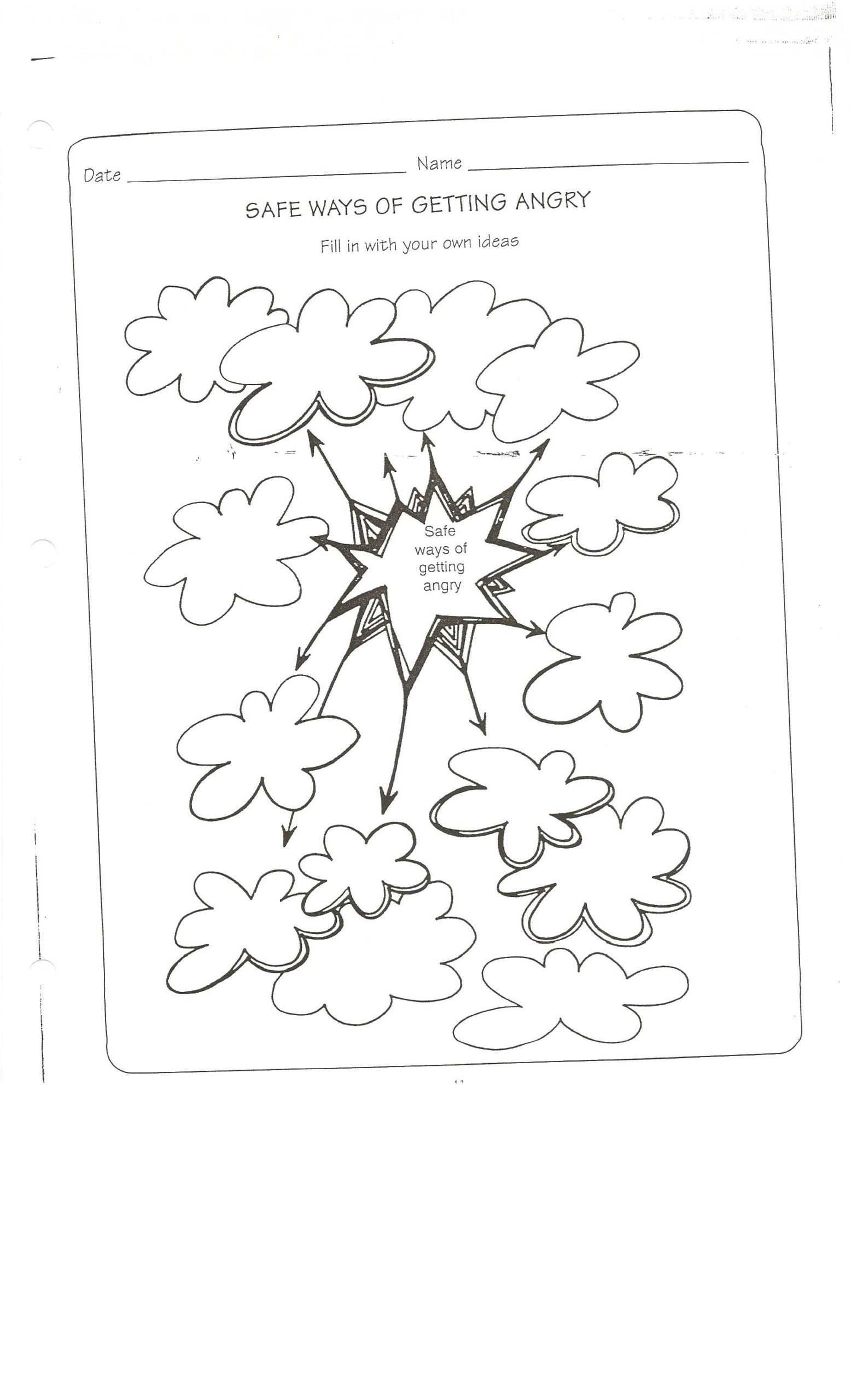 Conflict Worksheets for Middle School Safe Way to Get Angry Worksheet Conflict Resolution Safety