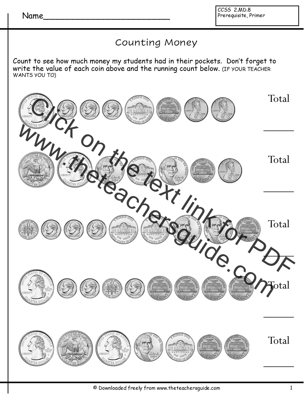 Counting Coins Worksheets First Grade Counting Coins First Grade Lessons Tes Teach