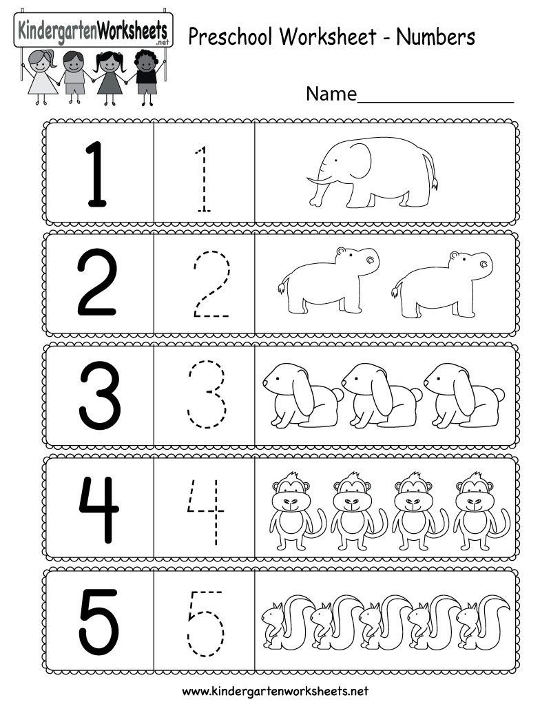 Counting Worksheets Preschool 5 Free Preschool Kindergarten Worksheets Counting