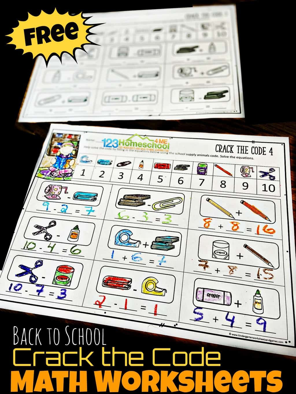 Crack the Code Math Worksheet Free Back to School Crack the Code Worksheets
