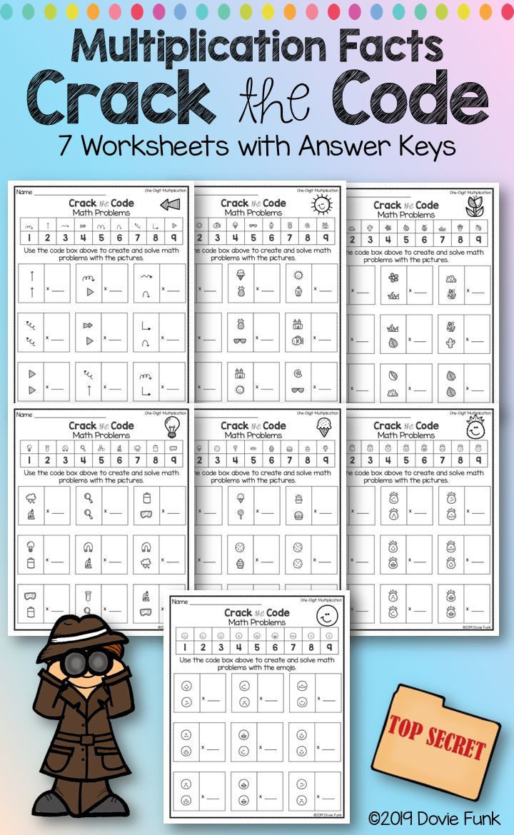 Crack the Code Math Worksheet Pin On Grades 3 5