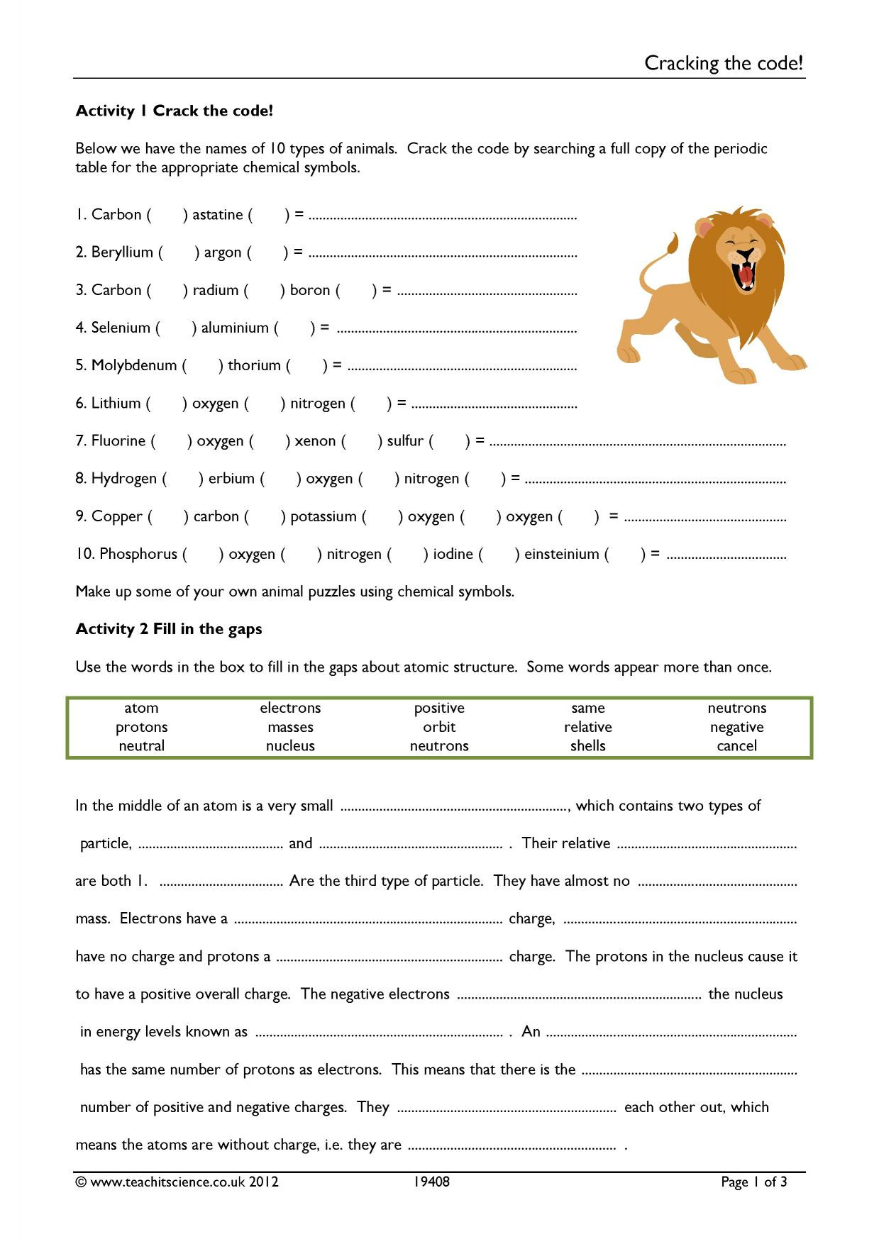 Crack the Code Math Worksheets Cracking the Code