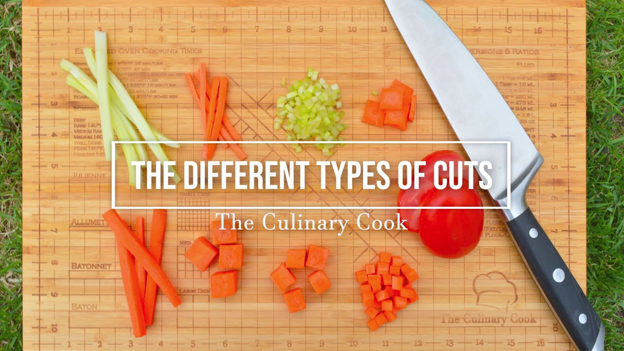 Culinary Knife Skills Worksheet Knife Cuts and the Different Types Of Cuts theculinarycook