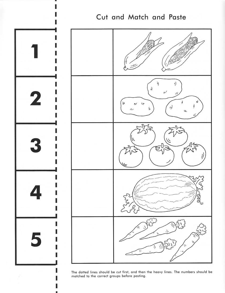 Cut and Paste Math Worksheets Rod & Staff Preschool Workbooks