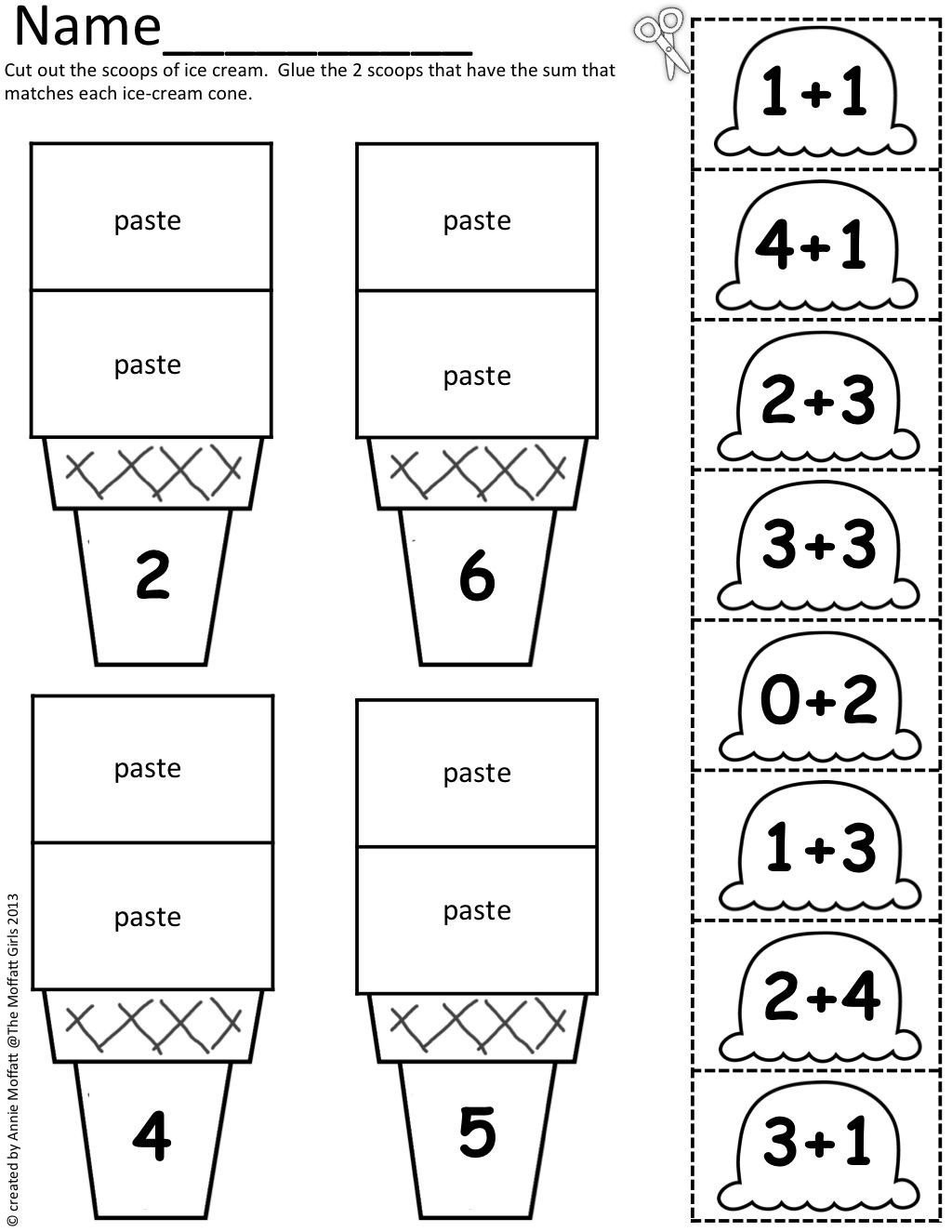 Cut and Paste Math Worksheets Safety Sign Worksheet Cut and Paste