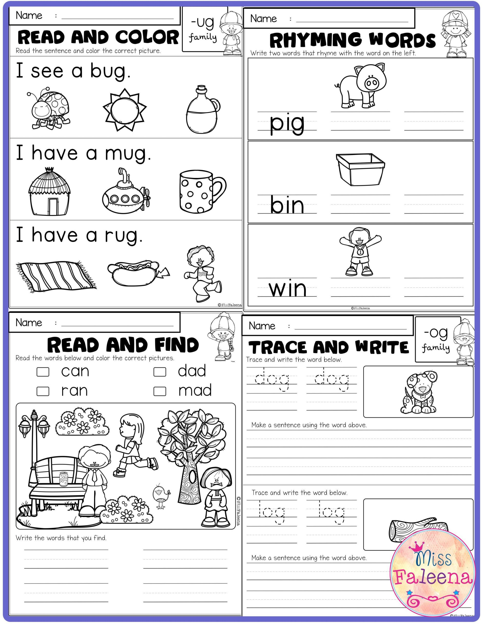 Cvc Worksheets for First Grade Free Cvc Activities Has 5 Pages Of Cvc Worksheets these
