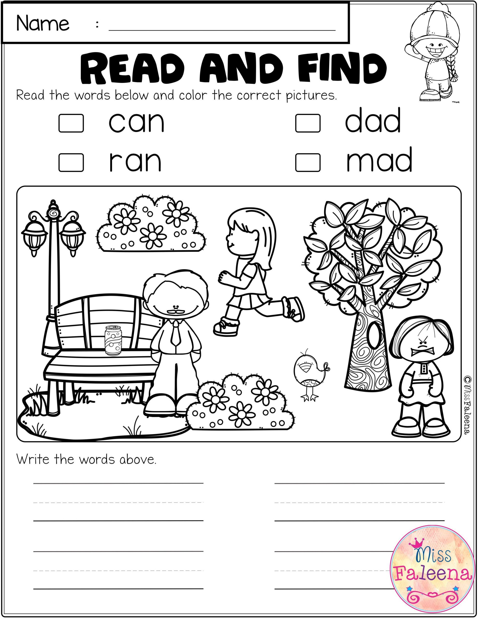 Cvc Worksheets for First Grade Free Cvc Activities