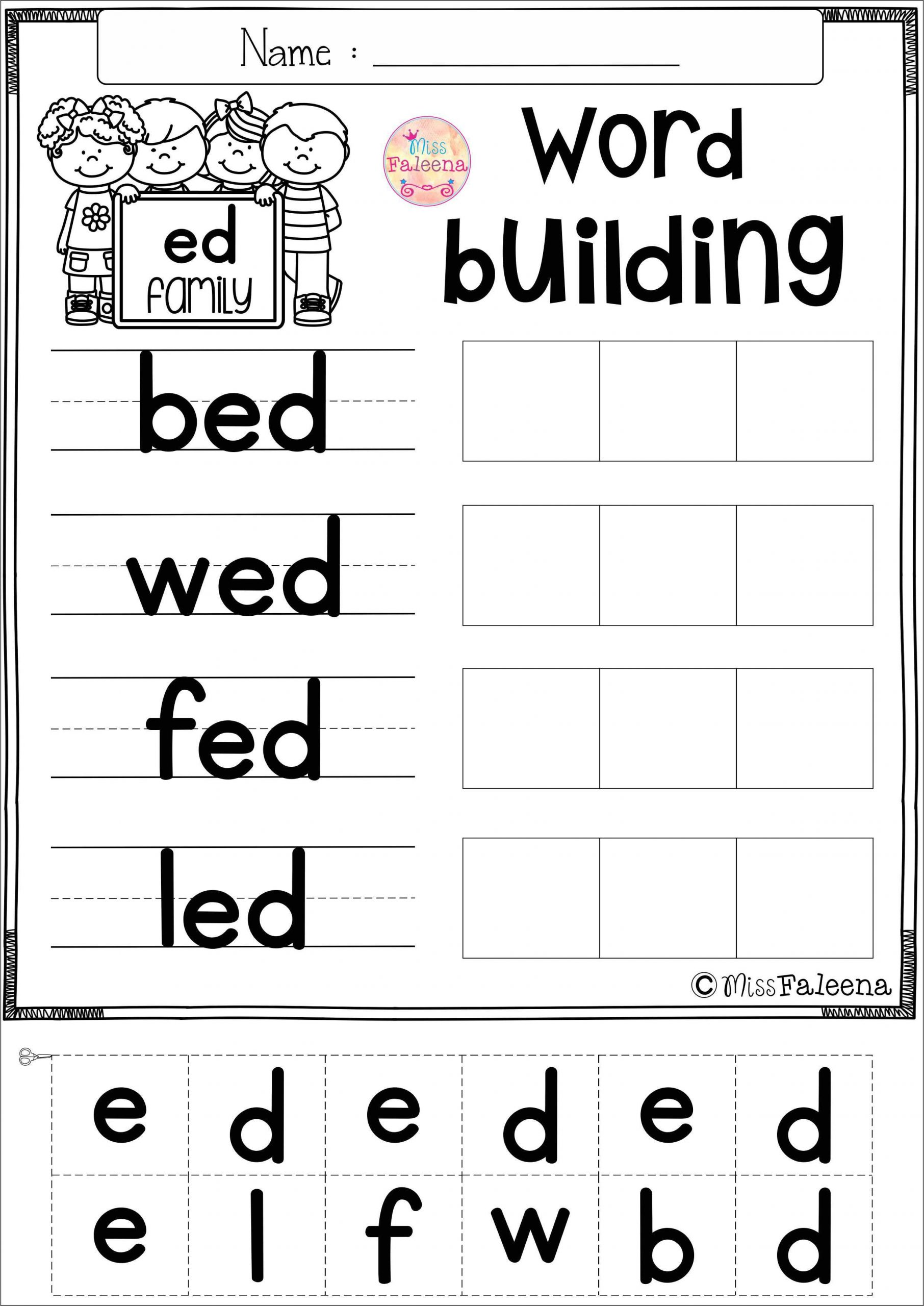 Cvc Worksheets for First Grade Free Cvc Word Exercise Short E