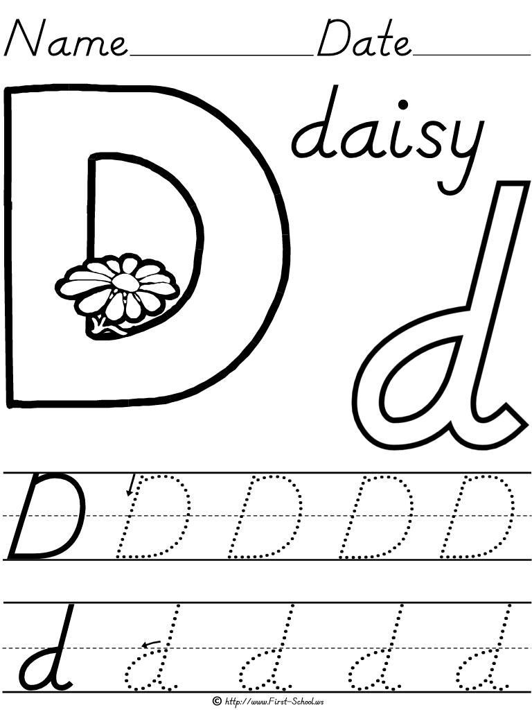 D Nealian Handwriting Worksheets First School Alphabet Worksheets в 2020 г