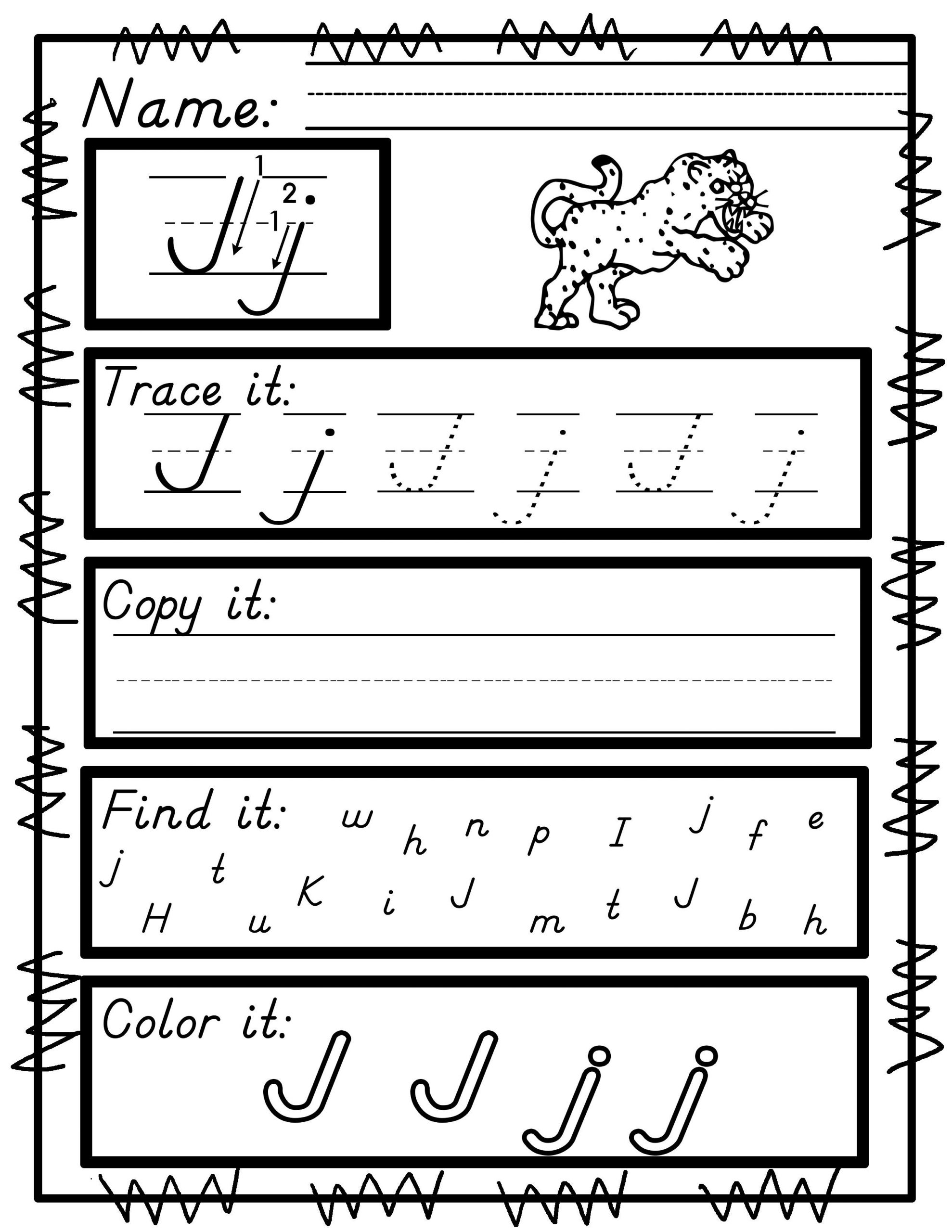 D Nealian Handwriting Worksheets Handwriting Practice A Z No Prep Print and Go D Nealian