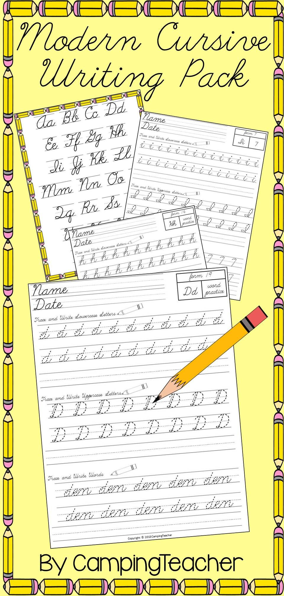 D Nealian Handwriting Worksheets Worksheet Cursive Writing Practice Picture Ideas Modern