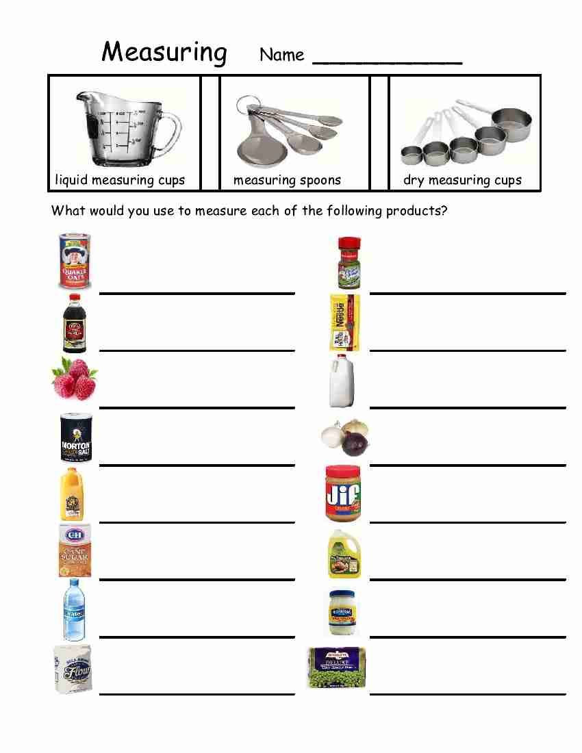 Daily Life Skills Worksheets Empowered by them Measuring Devices