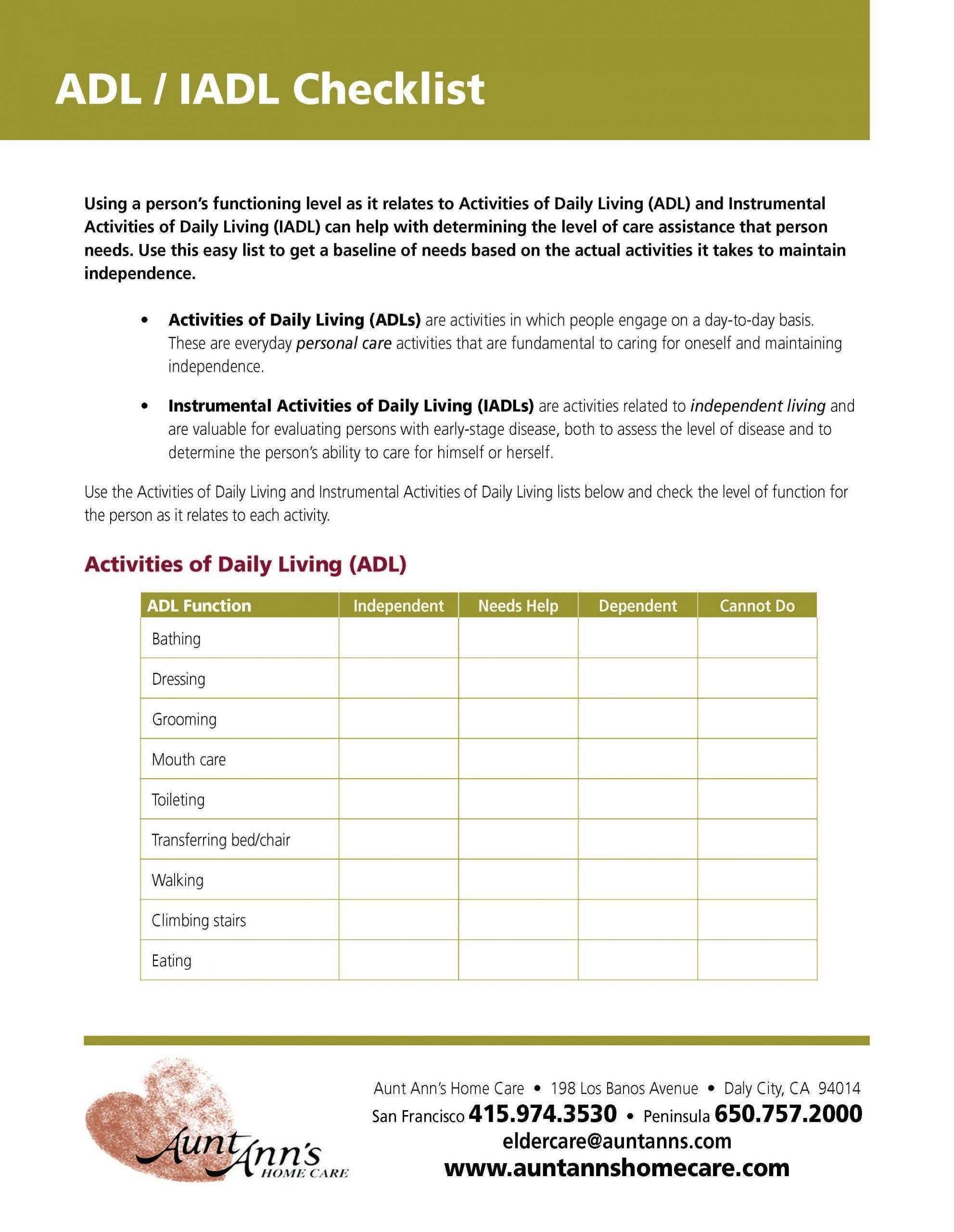 Daily Living Skills Worksheet Daily Living Skills Worksheet Activities Daily Living