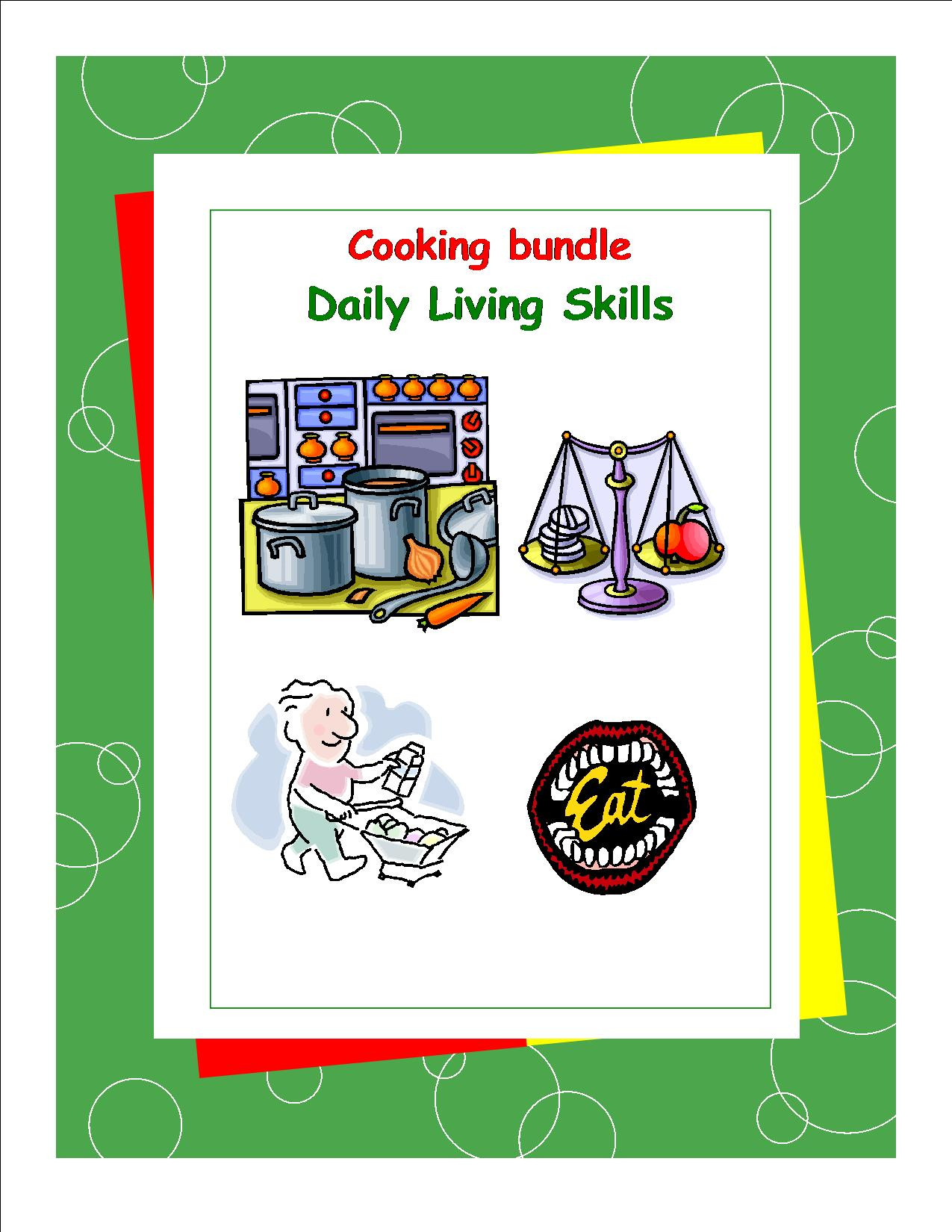 Daily Living Skills Worksheets Dls Nutrition Workbook Daily Living Skills