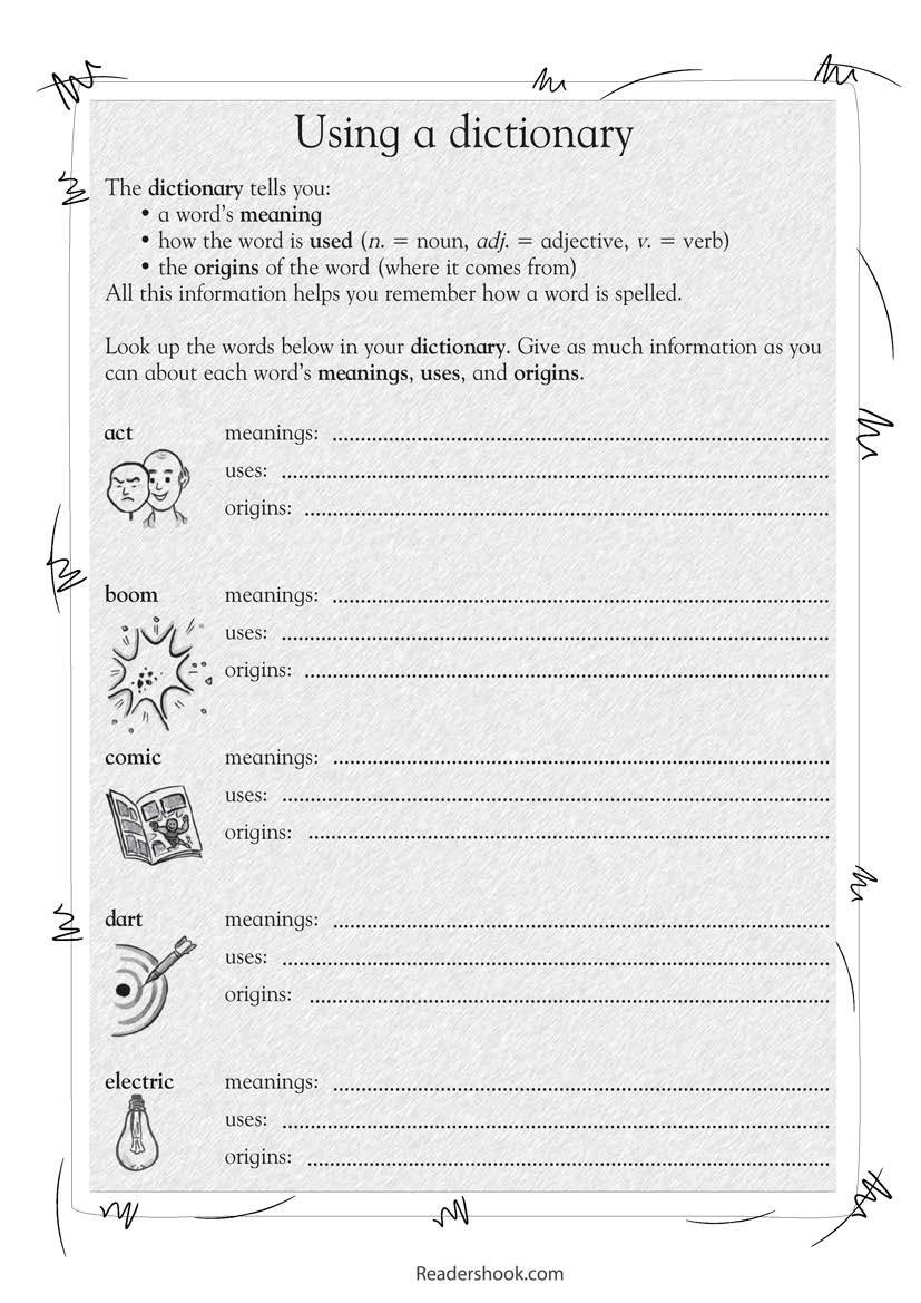 Dictionary Skill Worksheets 3rd Grade 3rd Grade Activities to Engage Kids In Learning