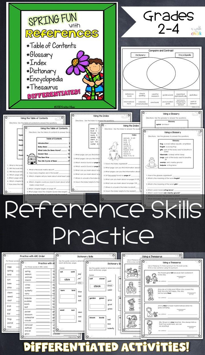 Dictionary Skills Worksheets Middle School Word Reference Skills Students Practice with Table Of