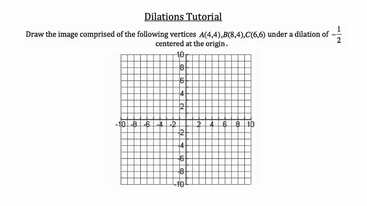 Dilations Worksheet 8th Grade Coordinate Transformations Examples solutions Dilations 8th