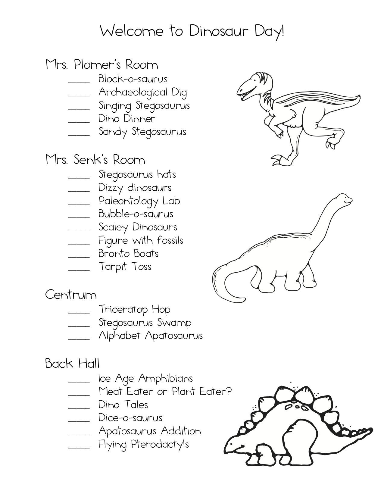 Dinosaur Worksheets for Preschoolers Delightful Dinosaur Day
